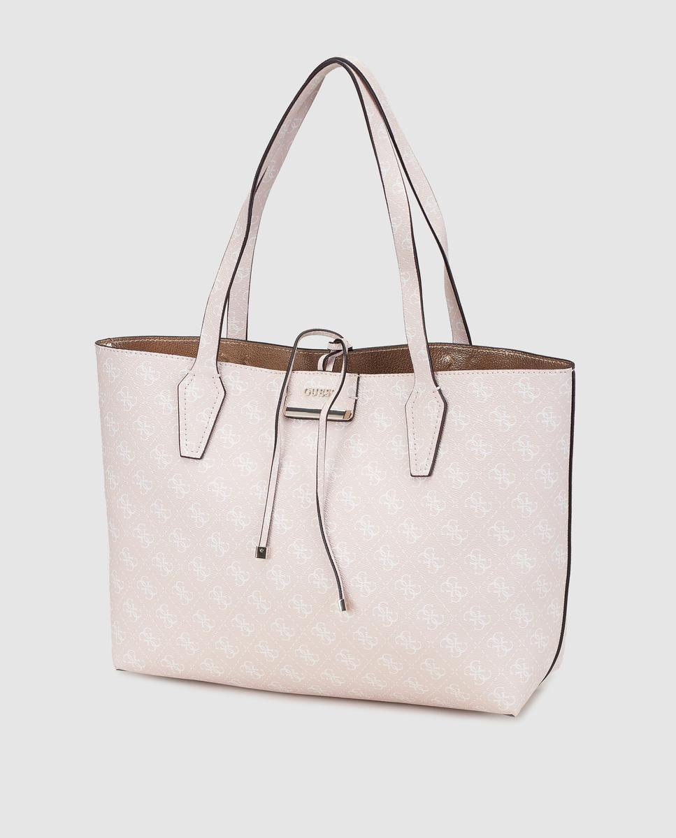 Guess Reversible Shopper Bag With Pink And Gold Logo Print in Pink ... a4eb007905576