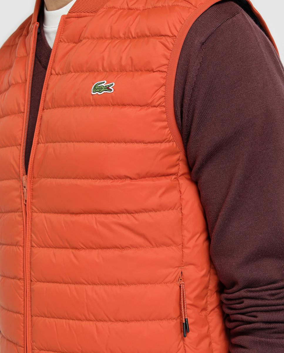Padded In Lacoste Lyst Quilted Orange Gilet For Men tshdrQC