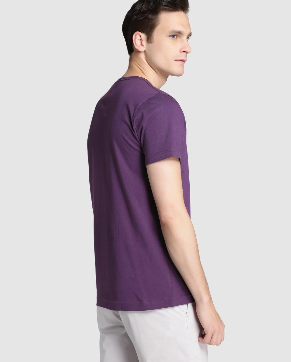 lyst tommy hilfiger purple short sleeved t shirt in. Black Bedroom Furniture Sets. Home Design Ideas