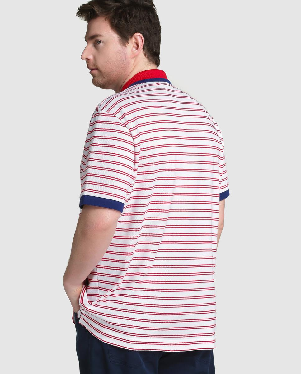 Lyst Lacoste Big And Tall Red Short Sleeved Piqu Polo