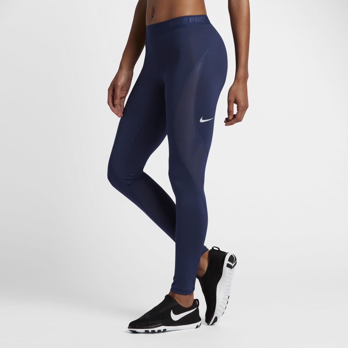 lyst nike pro hypercool leggings in blue. Black Bedroom Furniture Sets. Home Design Ideas