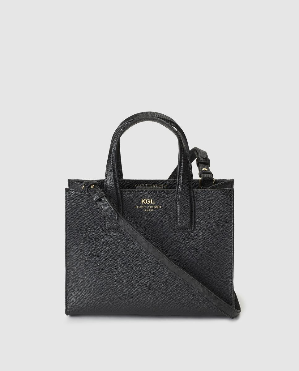 Kurt Geiger London Black Saffiano Leather Tote Bag With Magnet in ... 3421f7dc8f49d