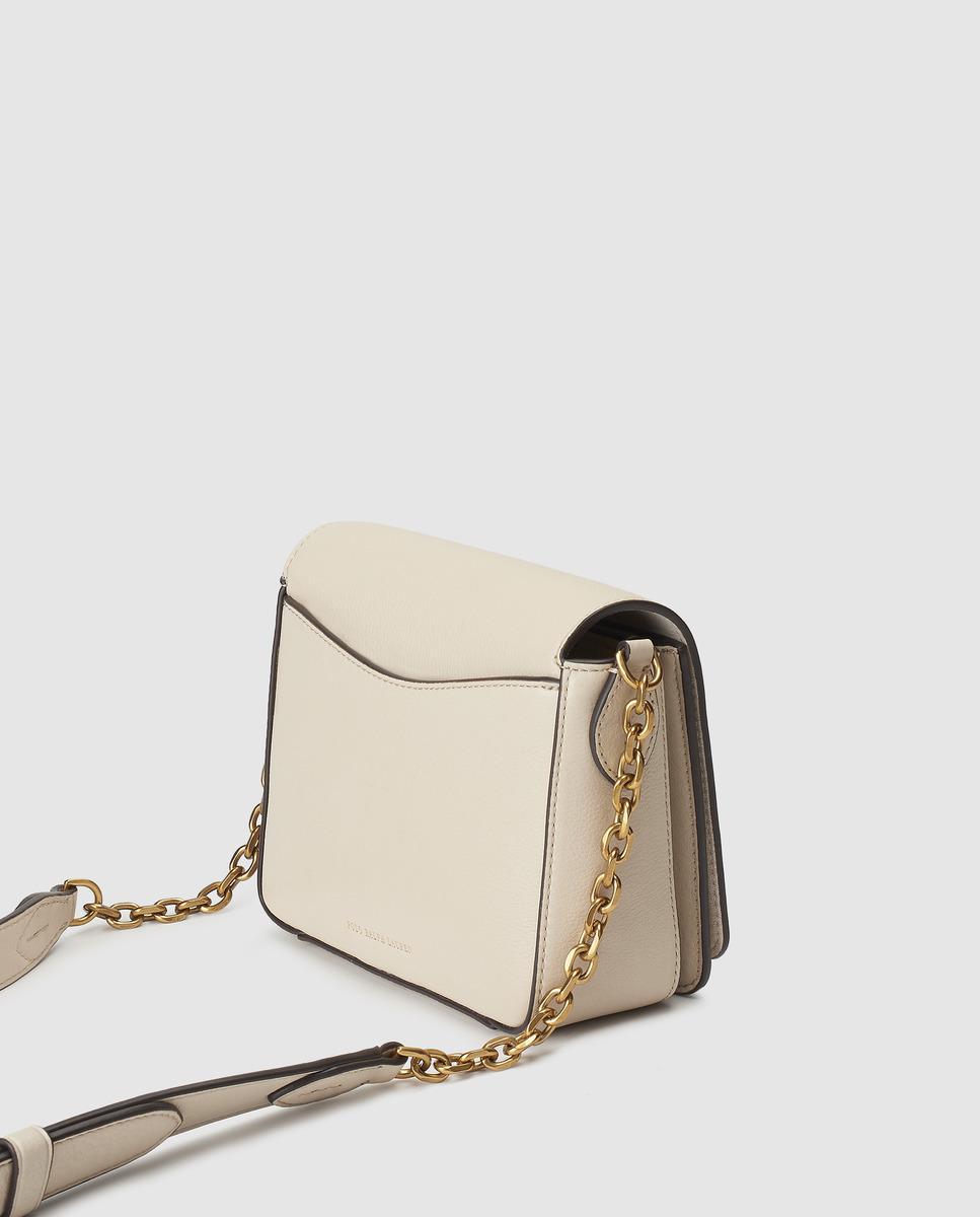 64c23d1574 Polo Ralph Lauren Beige Cowhide Leather Mini Crossbody Bag in Natural - Lyst