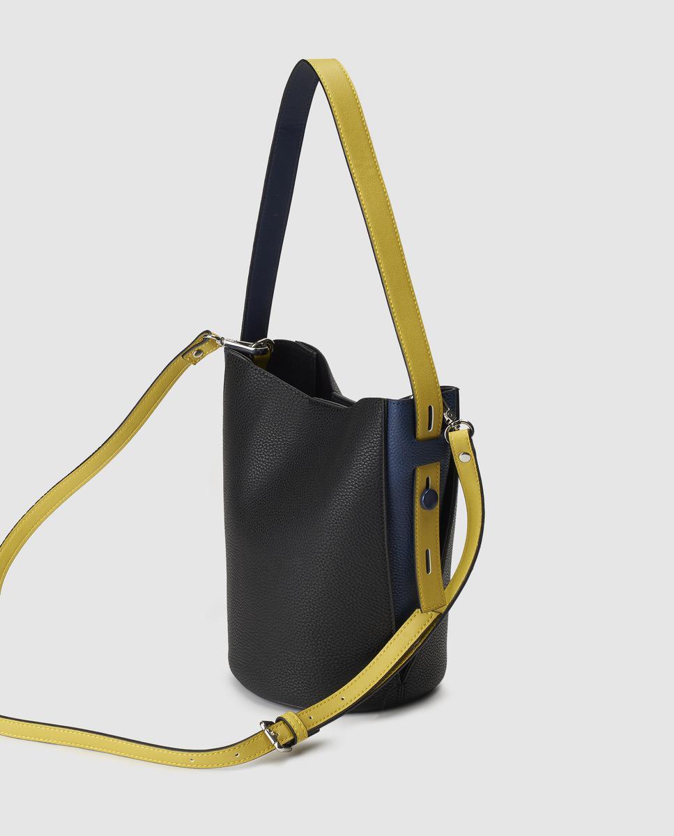 1dffa40b96 Lyst - Jo   Mr. Joe Mercury Small Black Hobo Bag With Magnetic Fastening in  Black