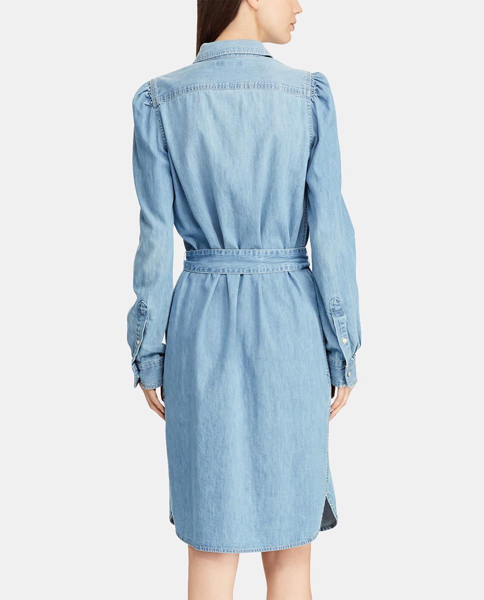 84af6c90b7e5d Lyst - Lauren by Ralph Lauren Denim Shirt Dress in Blue - Save 52%