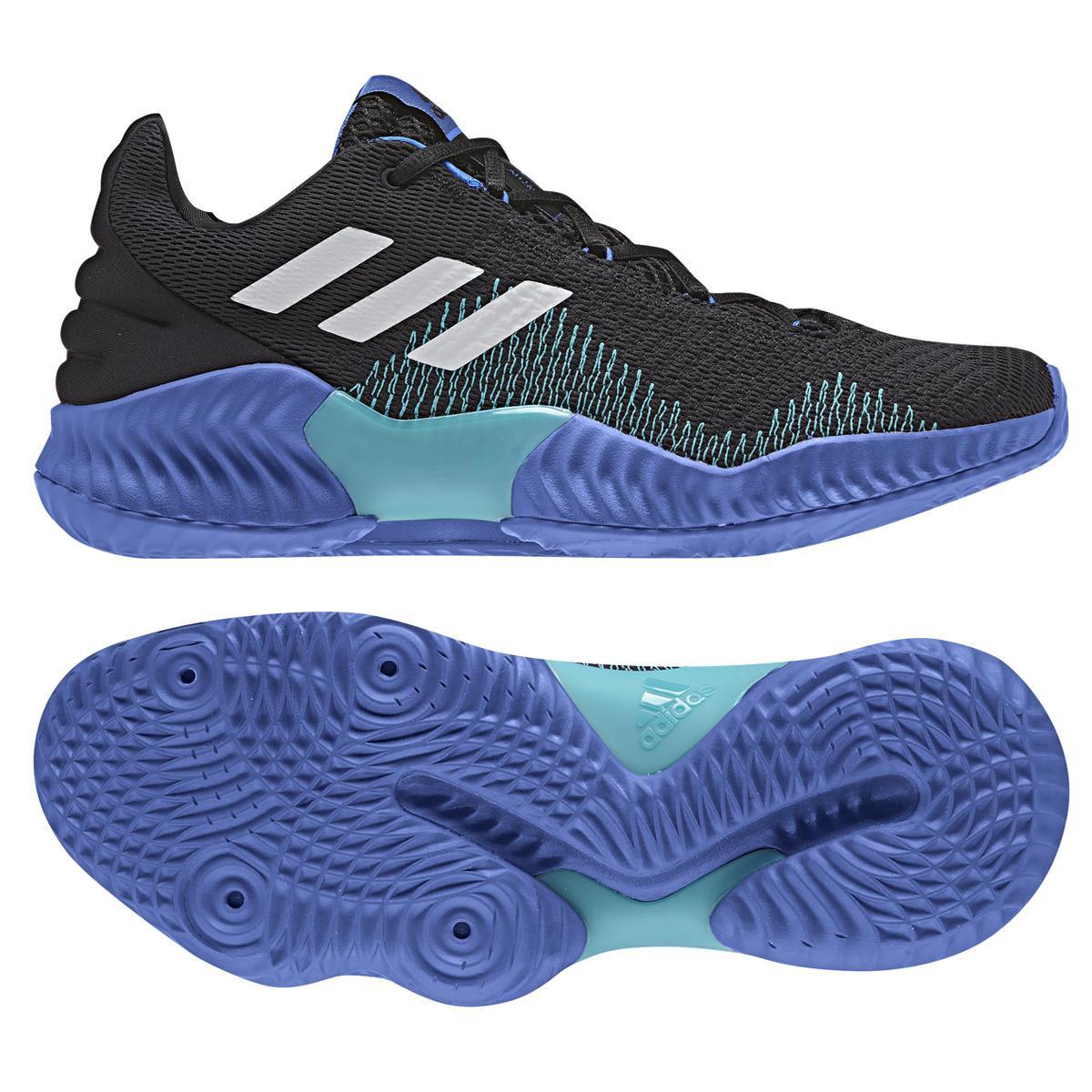 1c57ec7337fe8 Adidas - Blue Pro Bounce 2018 Low Basketball Shoes for Men - Lyst. View  fullscreen