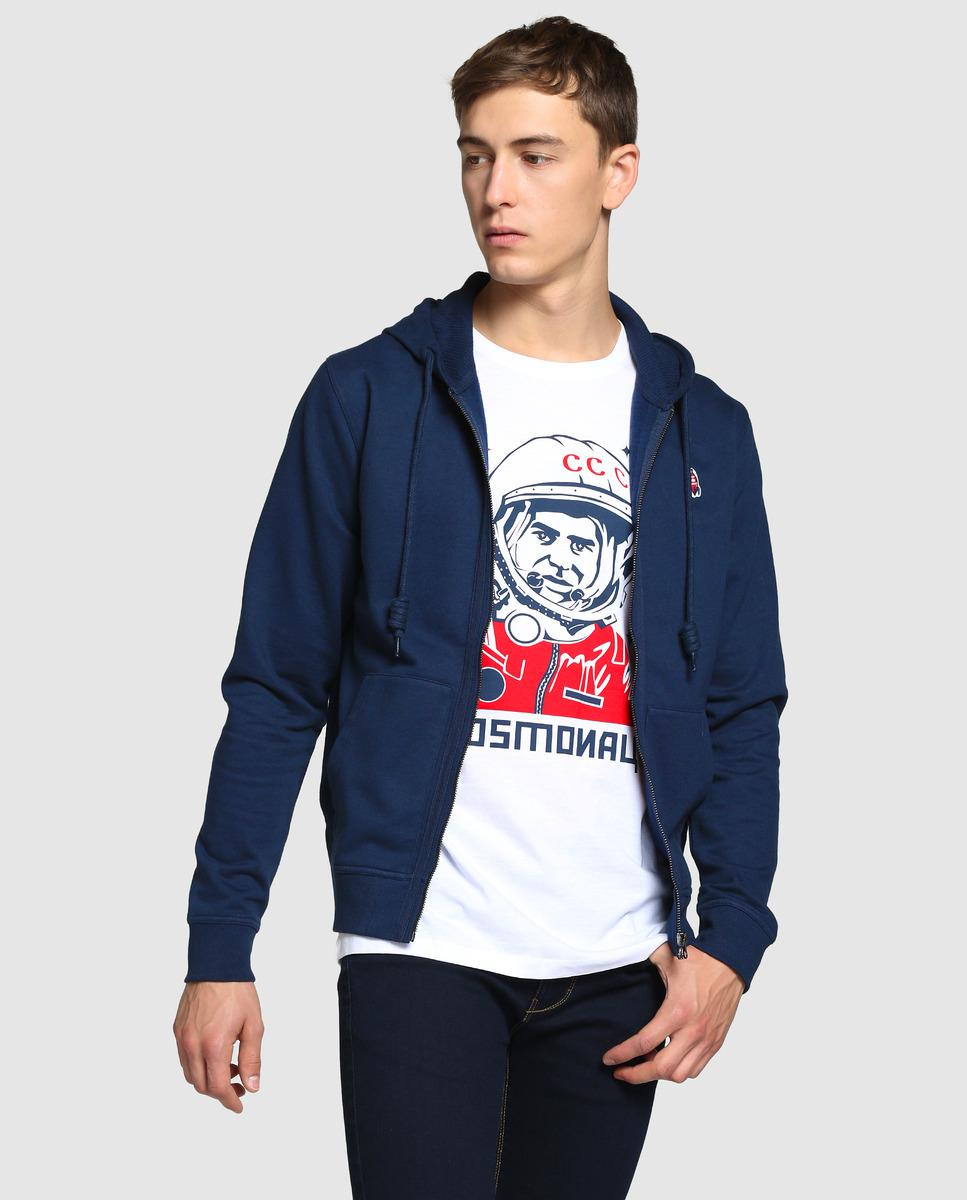 lyst green coast blue casual jacket with hood in blue
