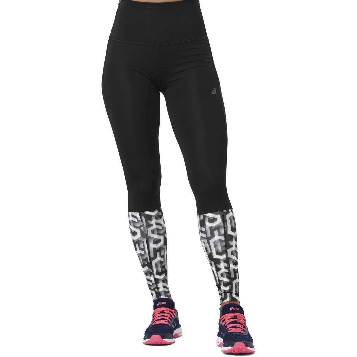 dcc1b5da2e0b5 Lyst - Asics Highwaist leggings in Black