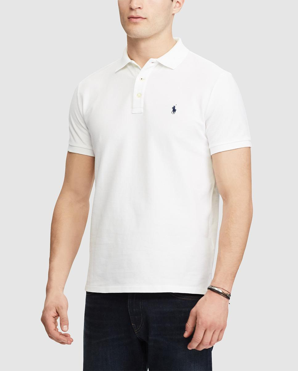 Lyst polo ralph lauren white short sleeved regular fit for White fitted polo shirts