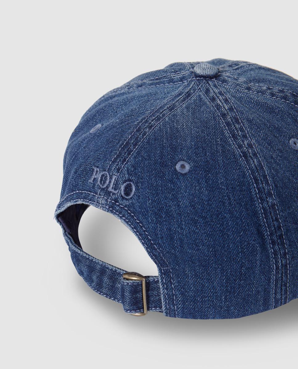 e2f67726e30 Lyst - Lauren By Ralph Lauren Navy Blue Cotton Baseball Cap in Blue for Men