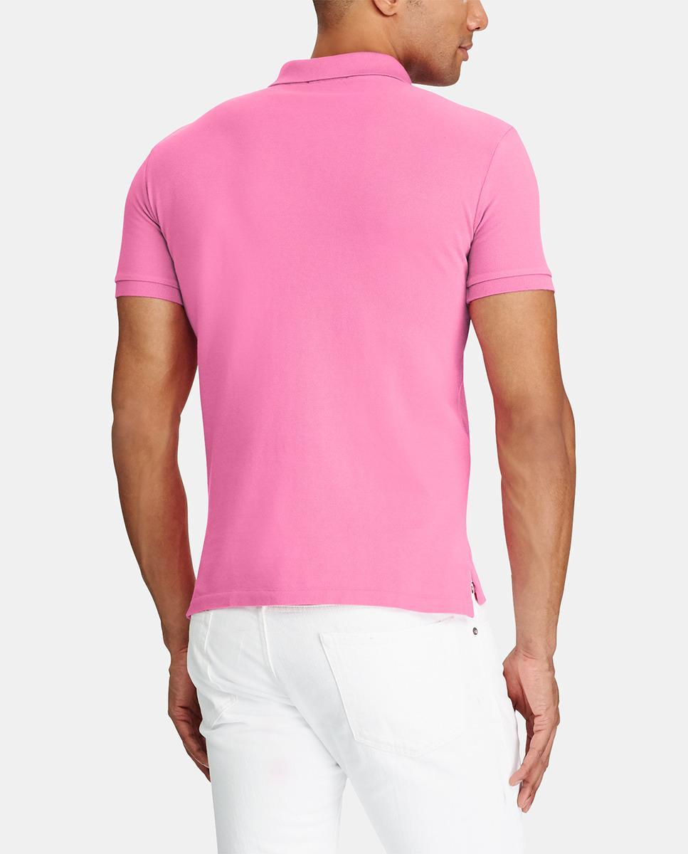 Lyst Polo Ralph Lauren Mens Slim Fit Pink Short Sleeve Piqu Polo