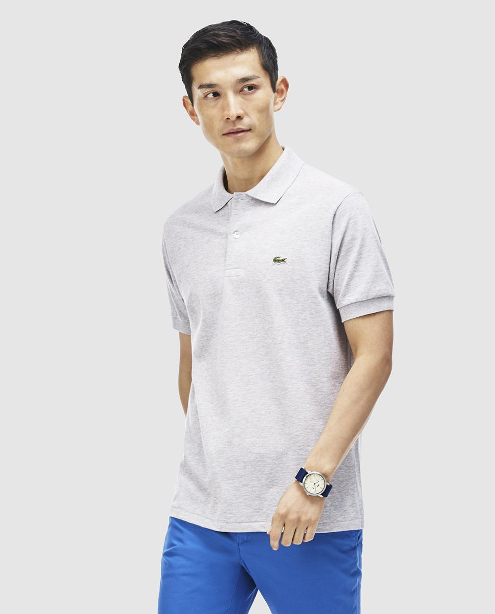 61b65eba Lacoste Grey Short Sleeve Polo Shirt in Gray for Men - Lyst