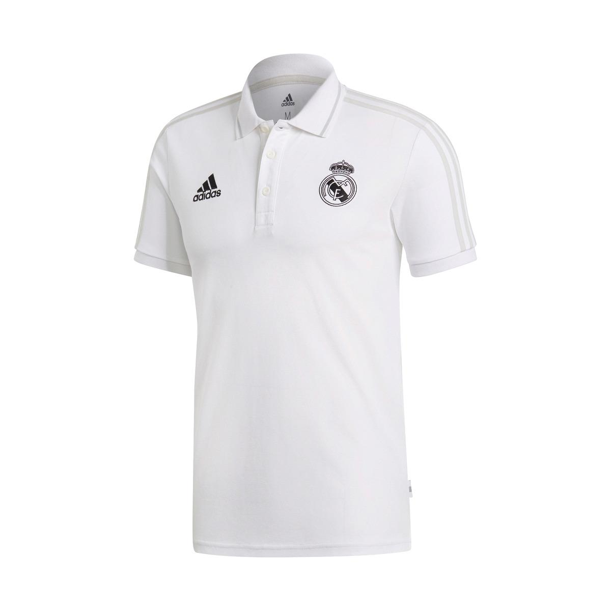 2383a801 adidas Real Madrid Cf 2018-2019 Polo Shirt in White for Men - Lyst