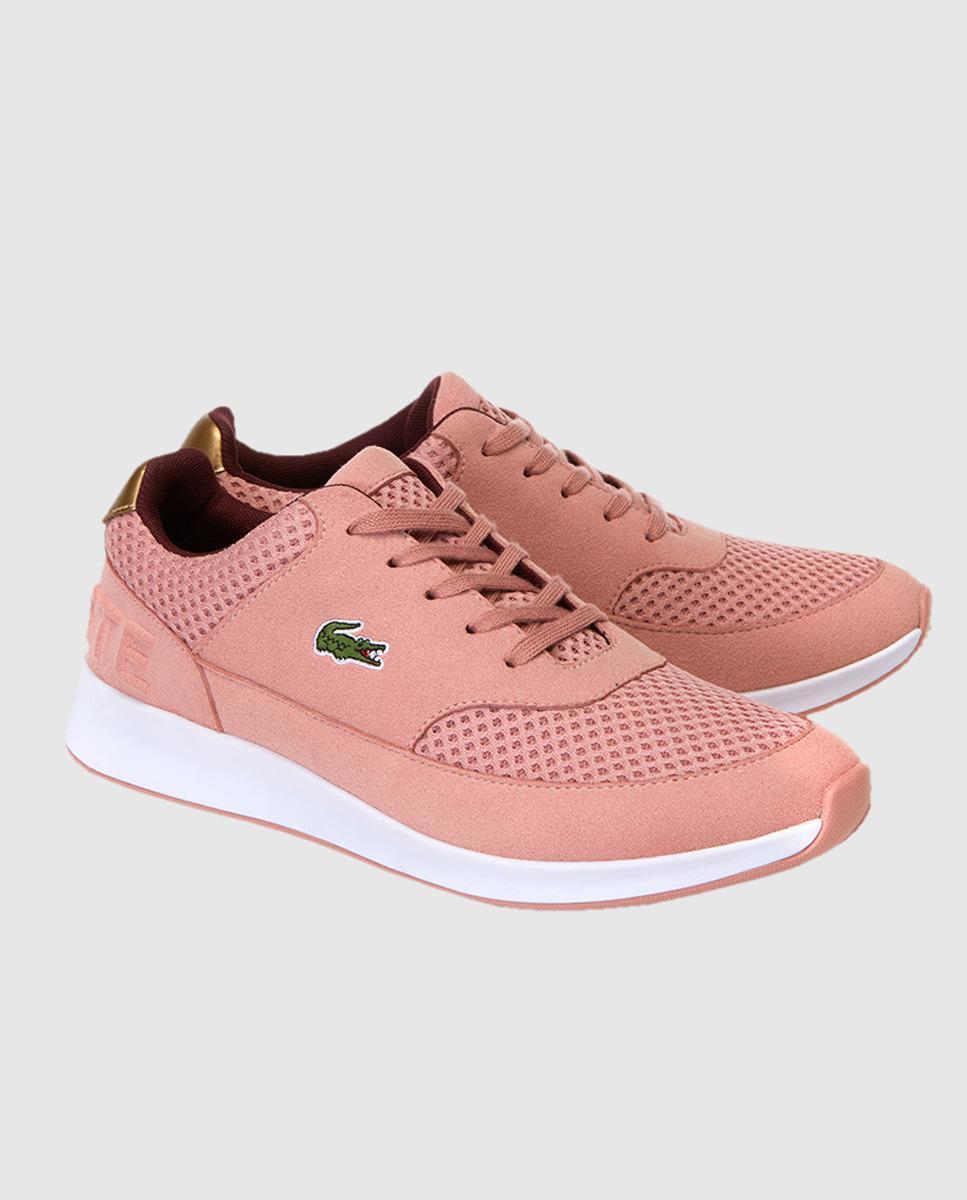 eee057f04f52c Lacoste Pink Trainers With Side Logo. Available Online Only. in Pink - Lyst