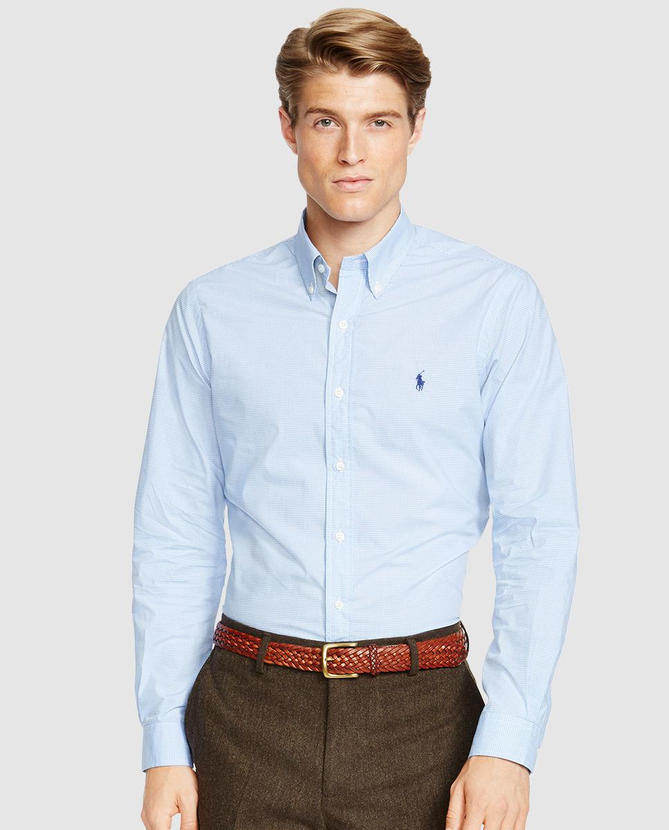 2f7bab2ce8 Polo Ralph Lauren Mens Checked Shirt in Blue for Men - Lyst
