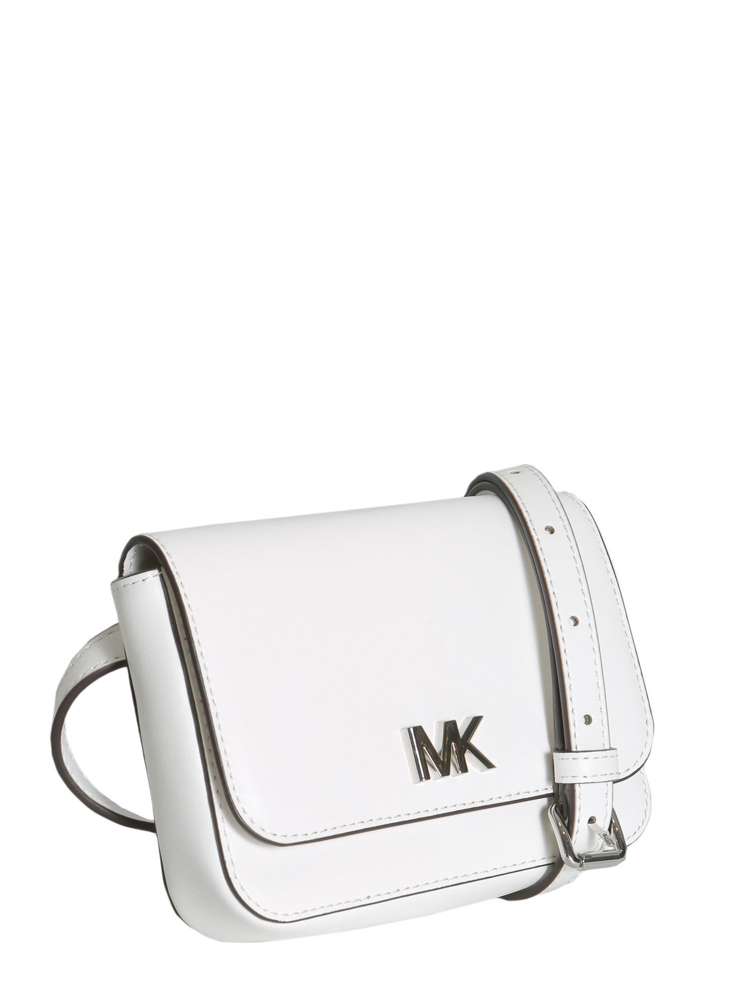 16eca4c4e4db Lyst - MICHAEL Michael Kors Mott Leather Belt Bag in White