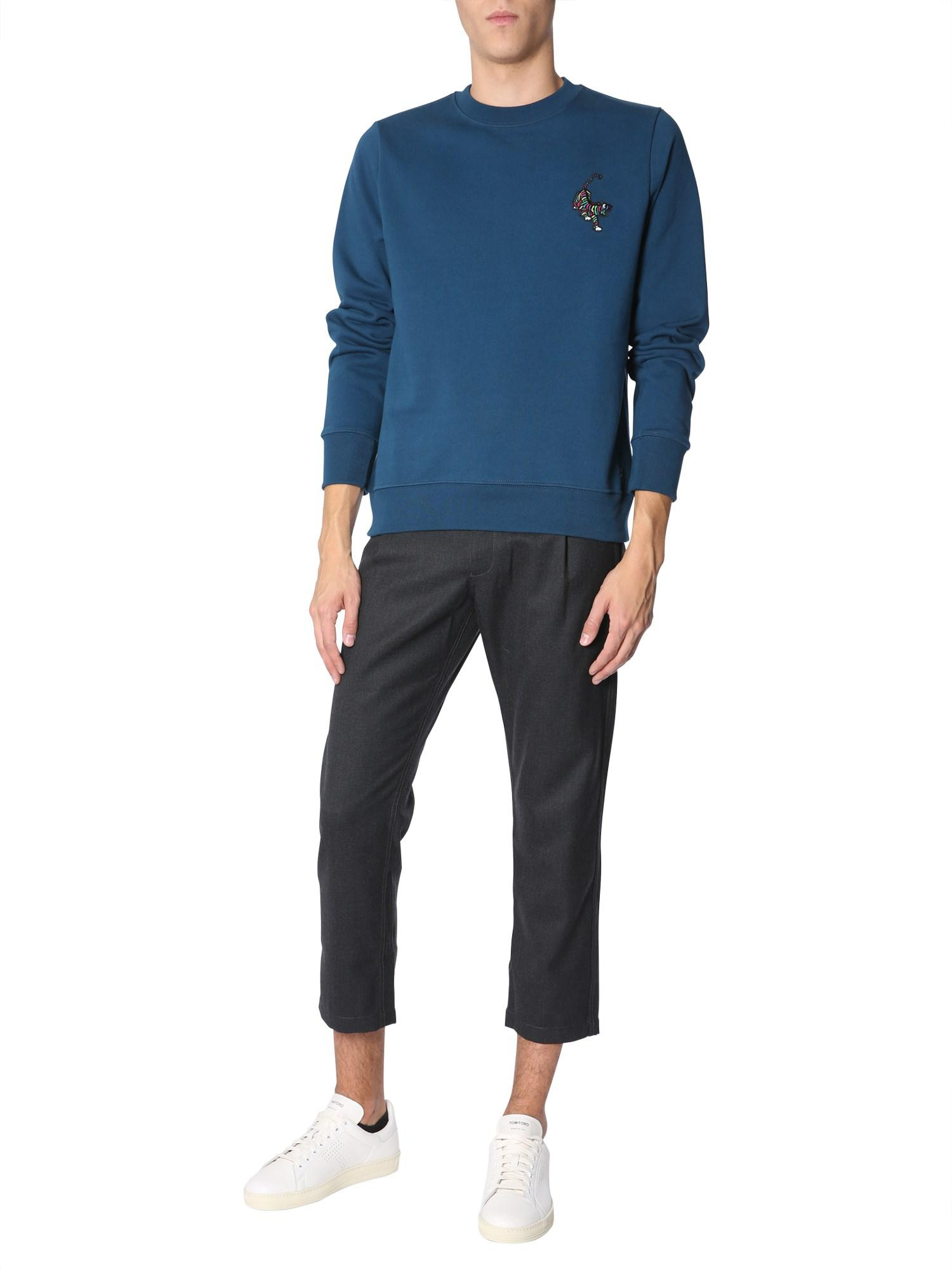 Lyst - PS by Paul Smith Crew Neck Cotton Sweatshirt With Patch Tiger ... 336789540
