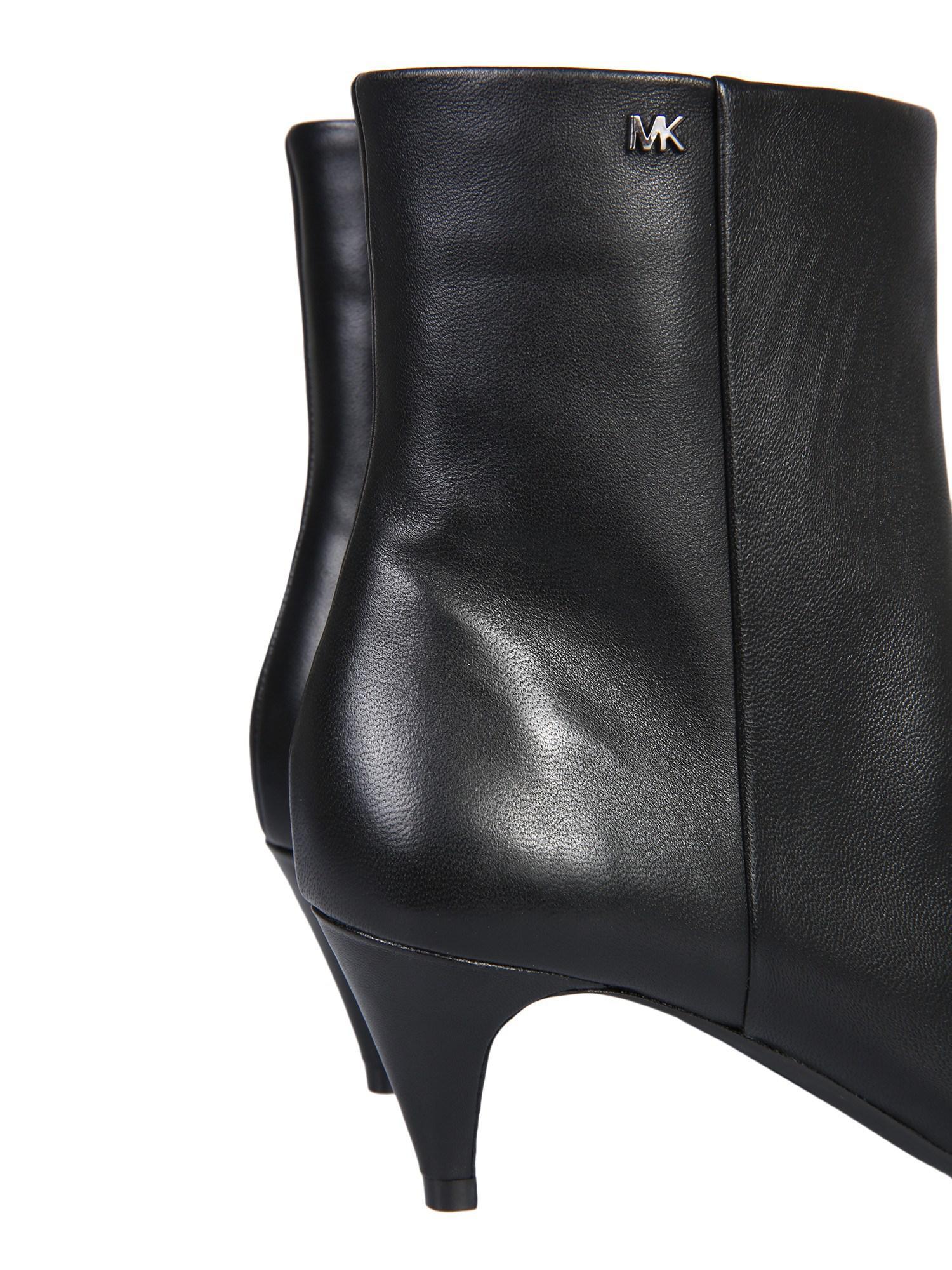 d401fde5bb2 MICHAEL Michael Kors Blaine Flex Kitten Leather Ankle Boots in Black ...