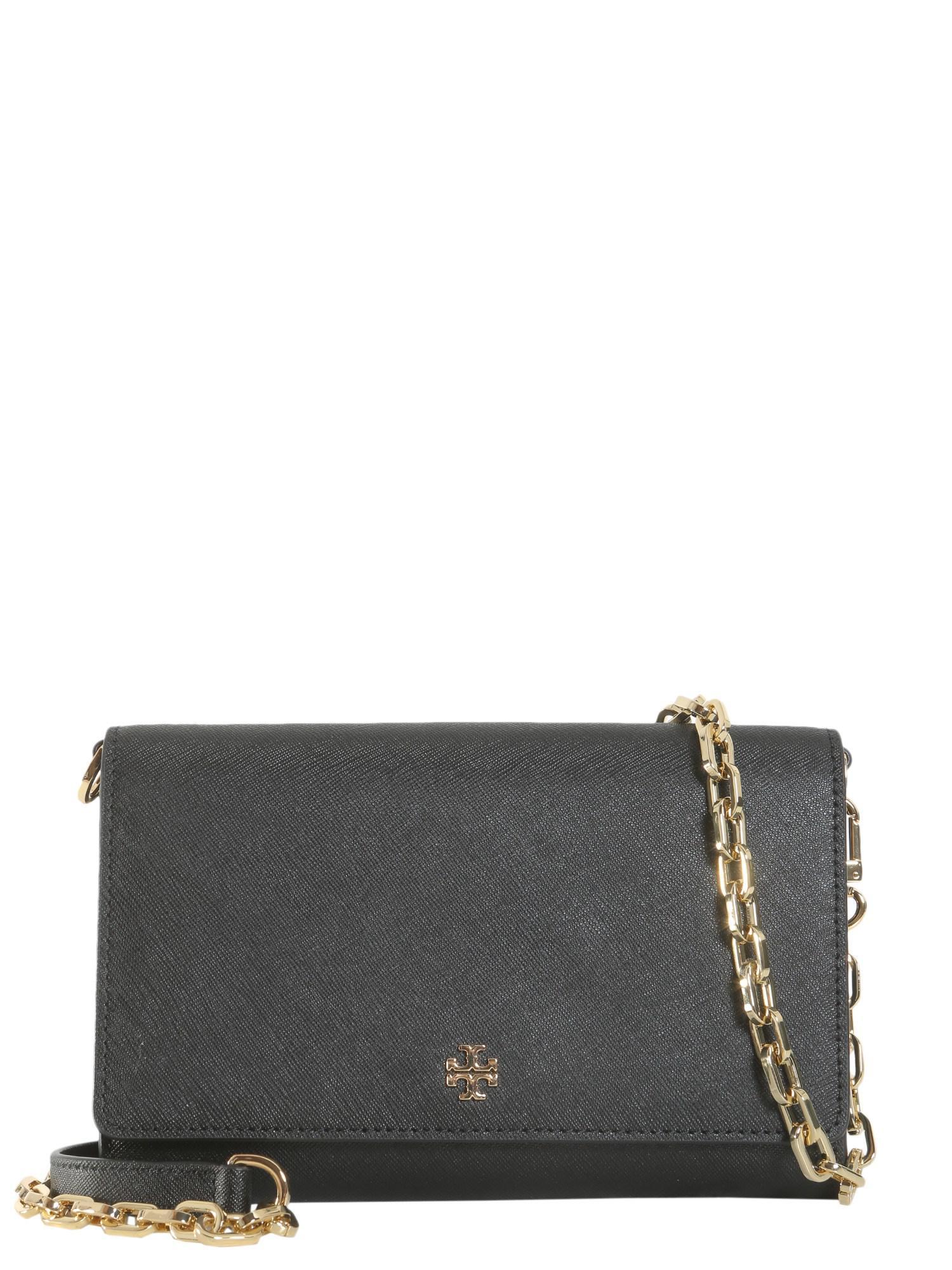7c3328f9c211 Tory Burch Robinson Crossbody Wallet in Black - Lyst