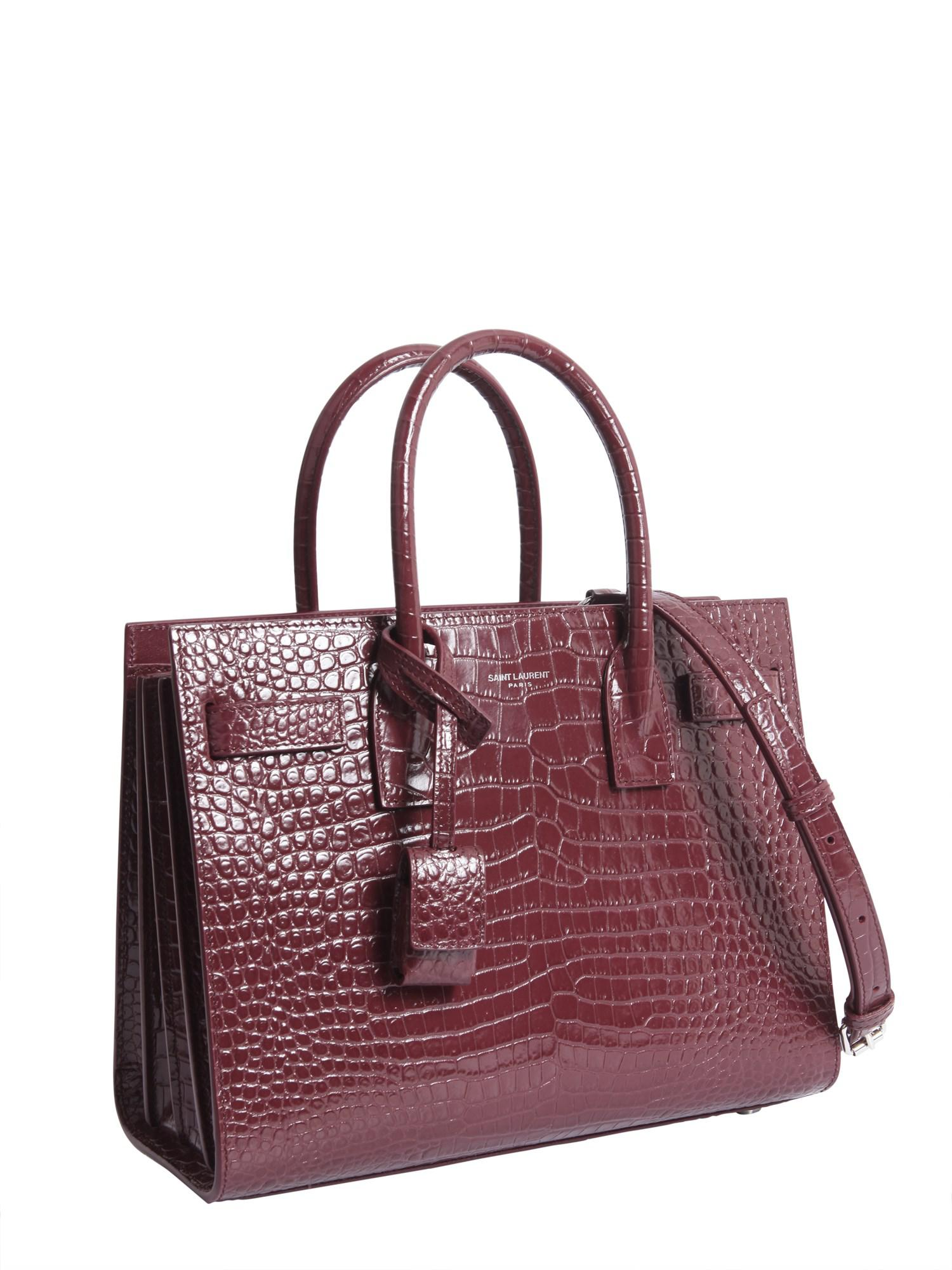 b227891280 Saint Laurent Multicolor Small Sac De Jour Souple Bag In Crocodile Embossed  Leather