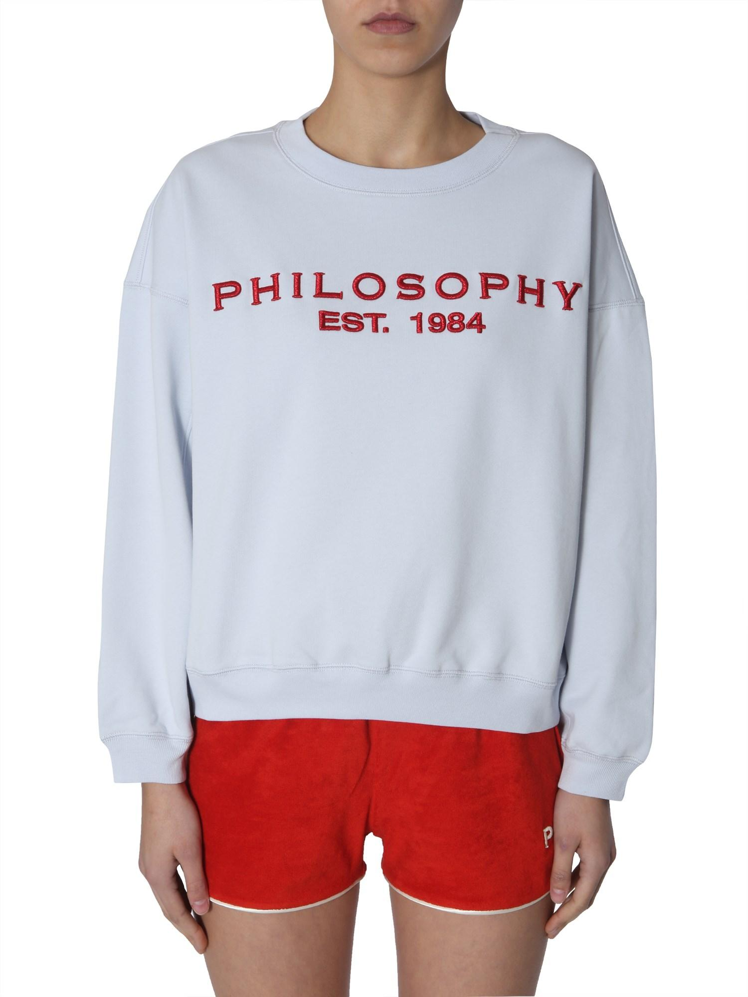 53414d5d Philosophy Di Lorenzo Serafini Embroidered Logo Sweatshirt in Blue - Save  11% - Lyst