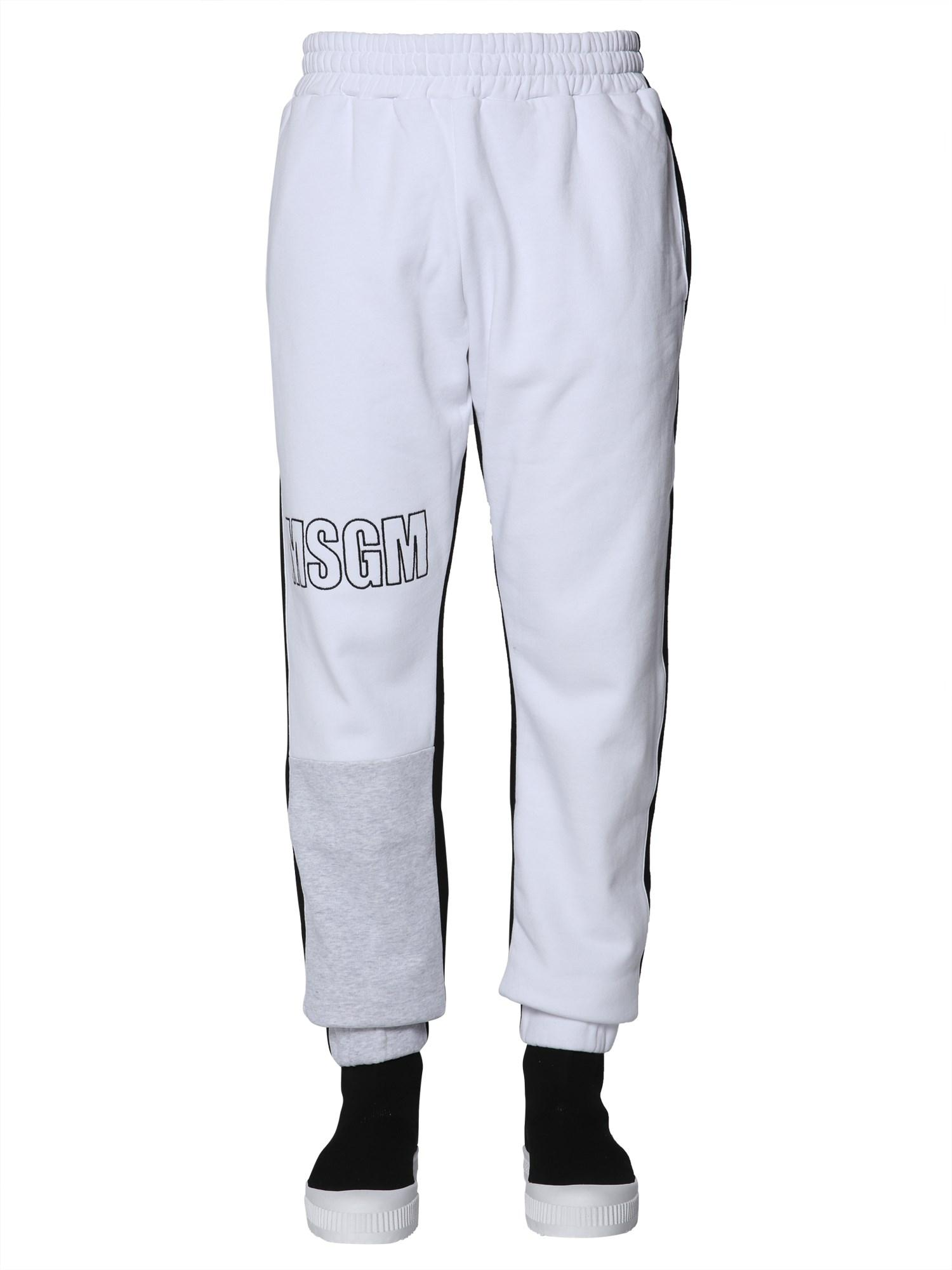 a48933bc12d MSGM Cotton JOGGING Trousers With Logo in Black for Men - Lyst