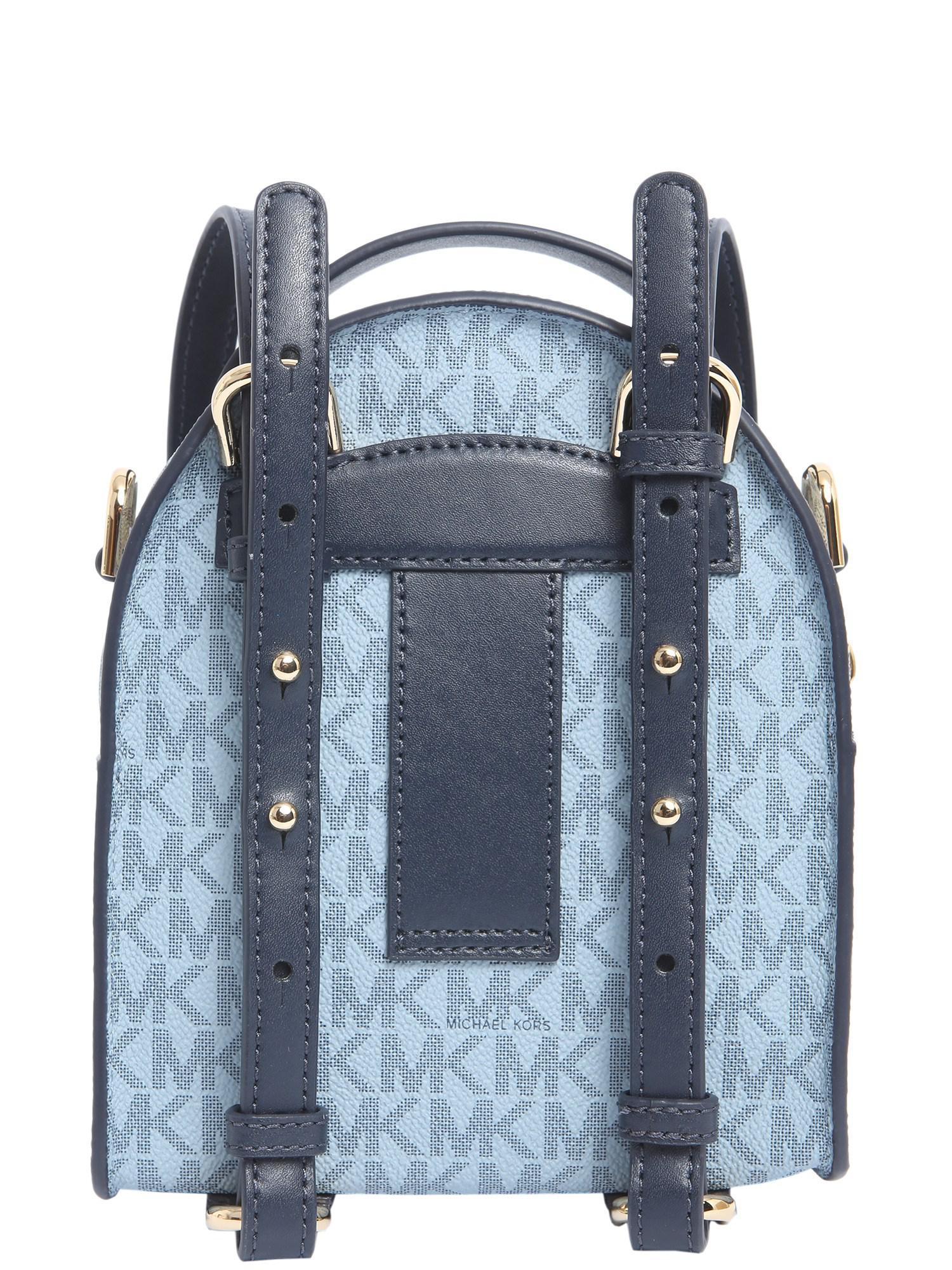 06b7d7a14b Lyst - MICHAEL Michael Kors Mini Jessa Backpack In Coated Twill in Blue