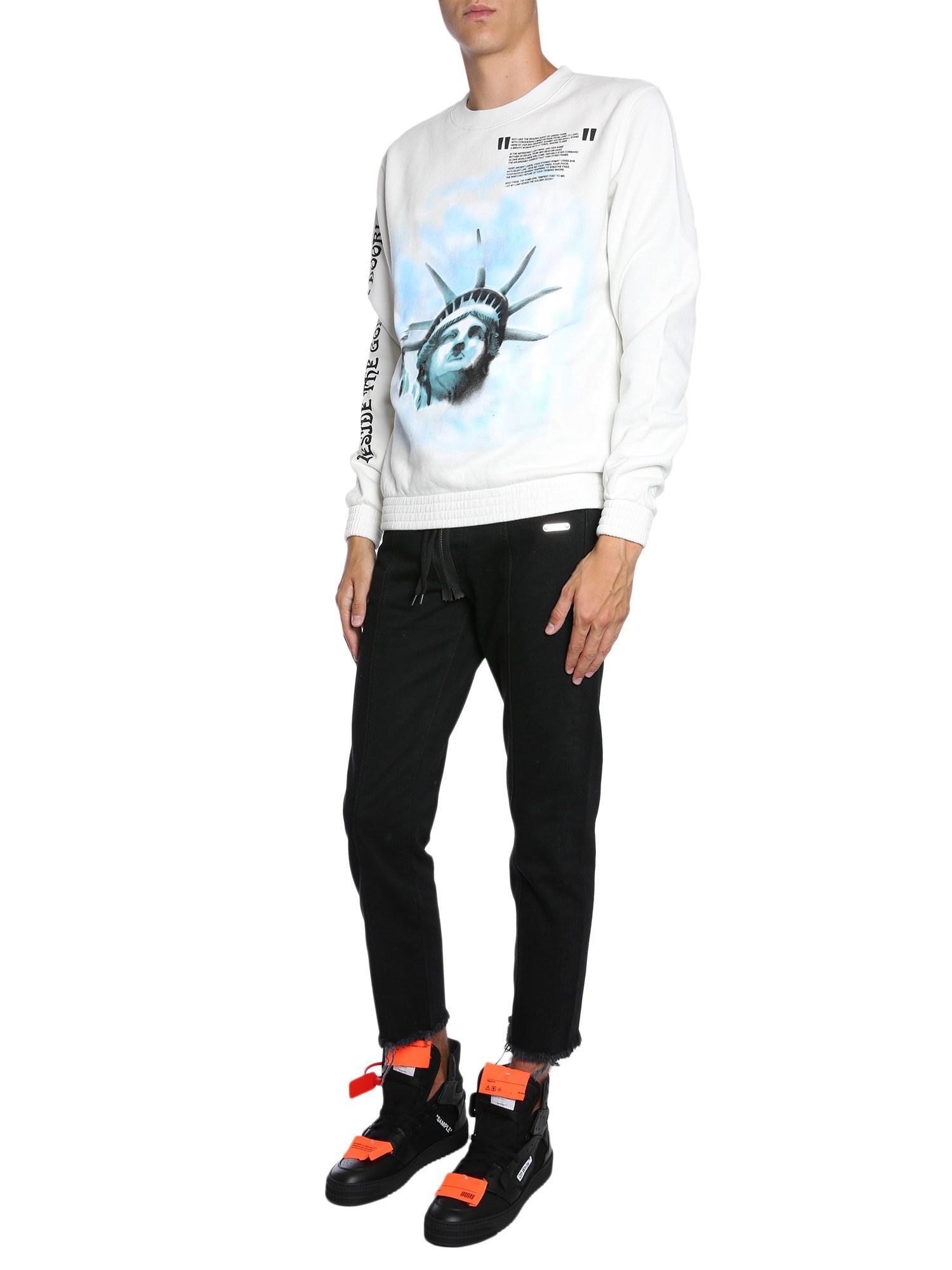 61970808f462 Off-White C O Virgil Abloh Round Collar Cotton Sweatshirt With ...