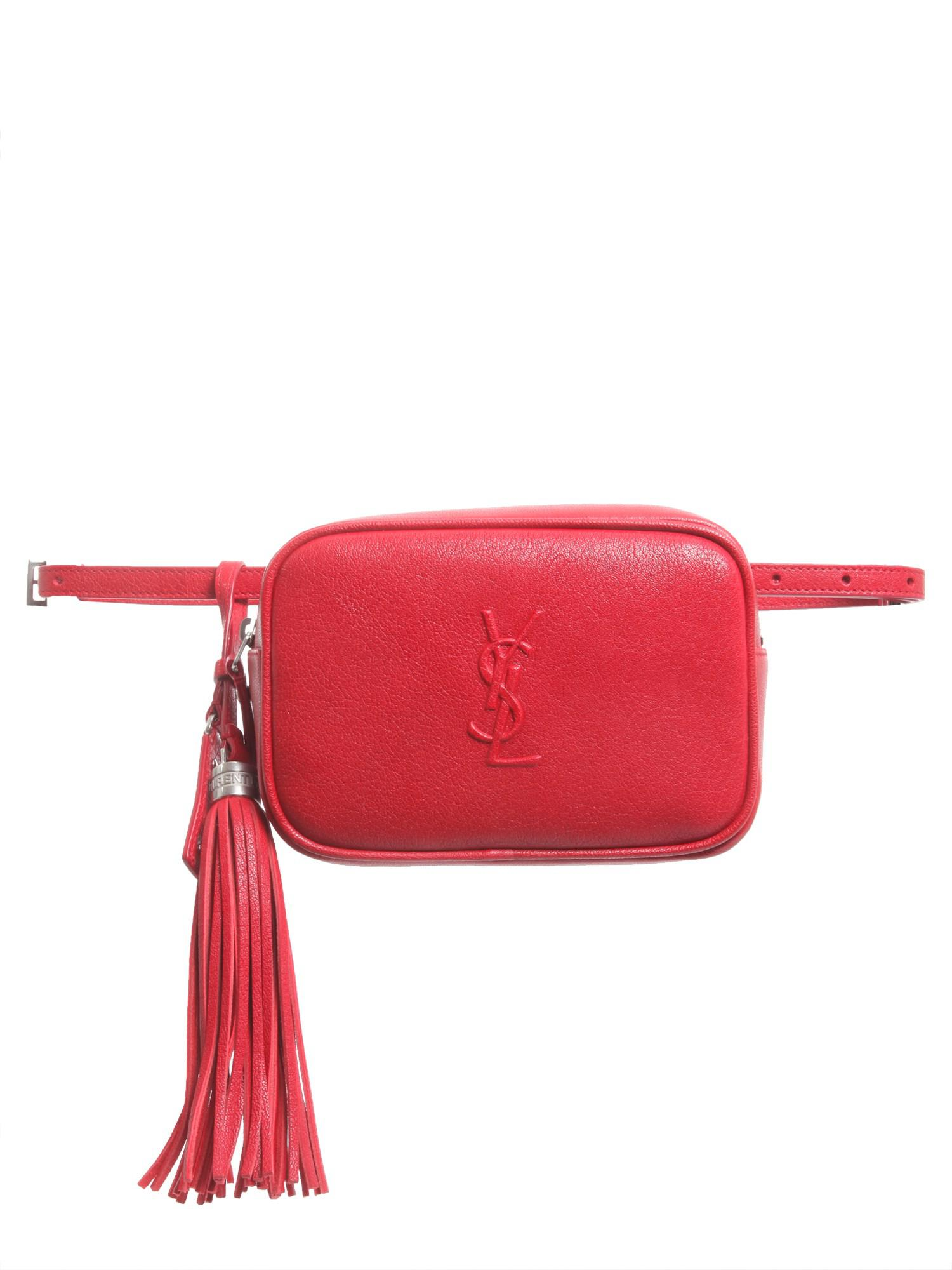 red Lou leather belt bag Saint Laurent O8zPadwO