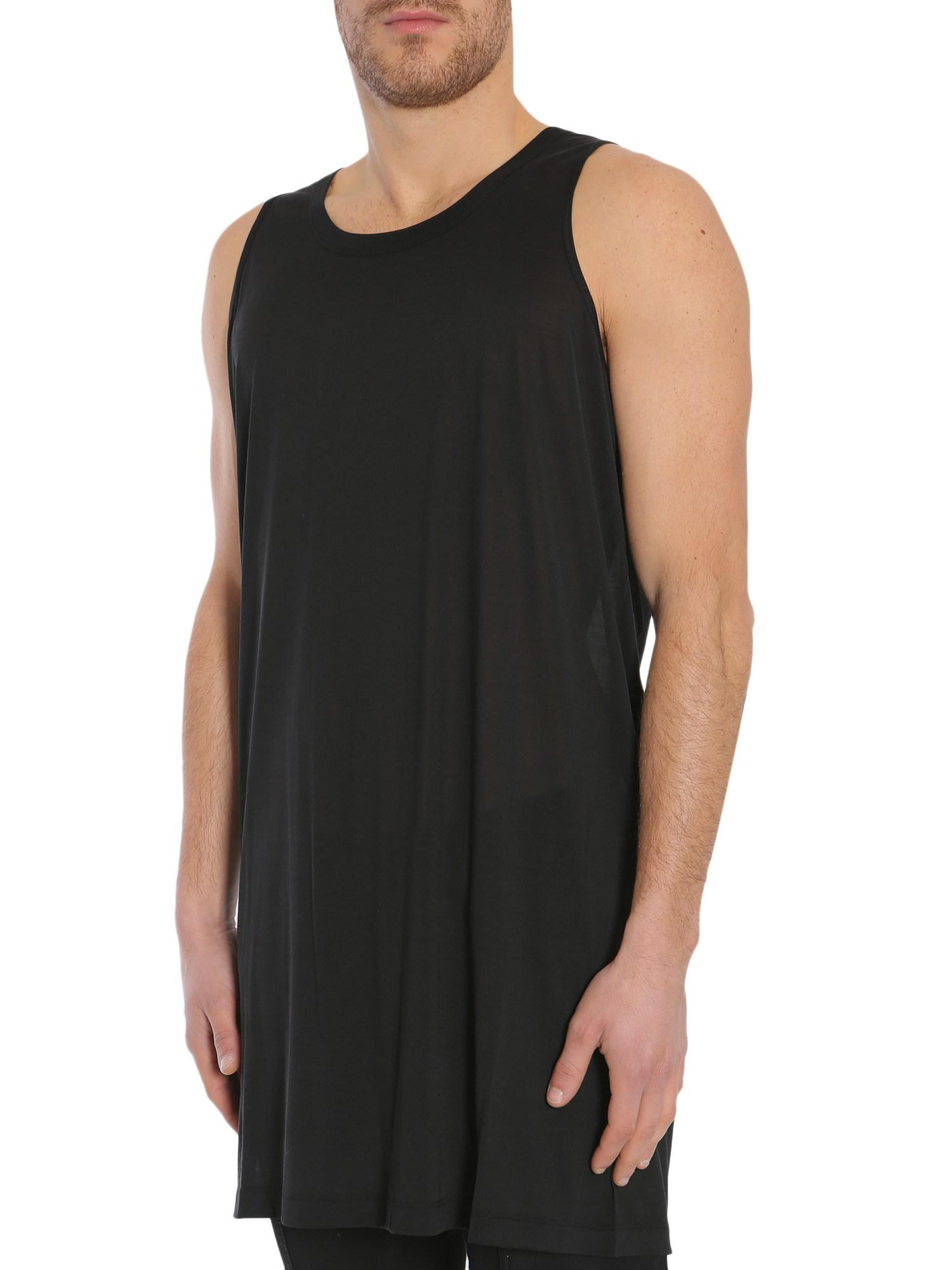 Outlet Visa Payment Sale Original Silk-jersey Tank - Black Rick Owens Clearance Affordable High Quality Sale Online AZuAx