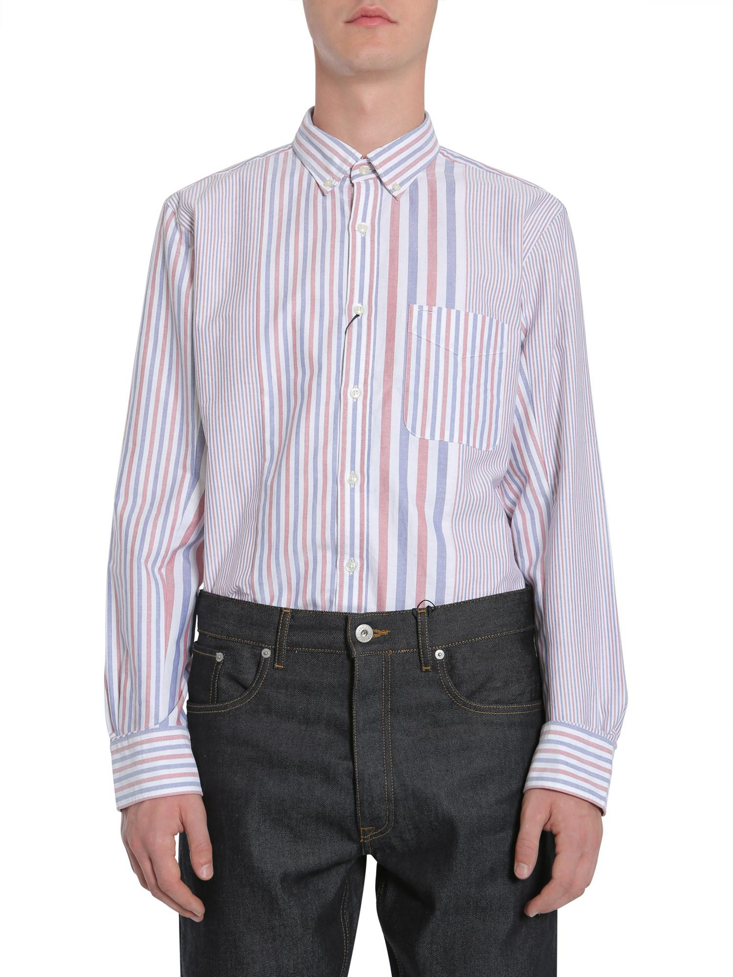 75f50102691c Lyst - Tommy Hilfiger Striped Oxford Cotton Shirt for Men