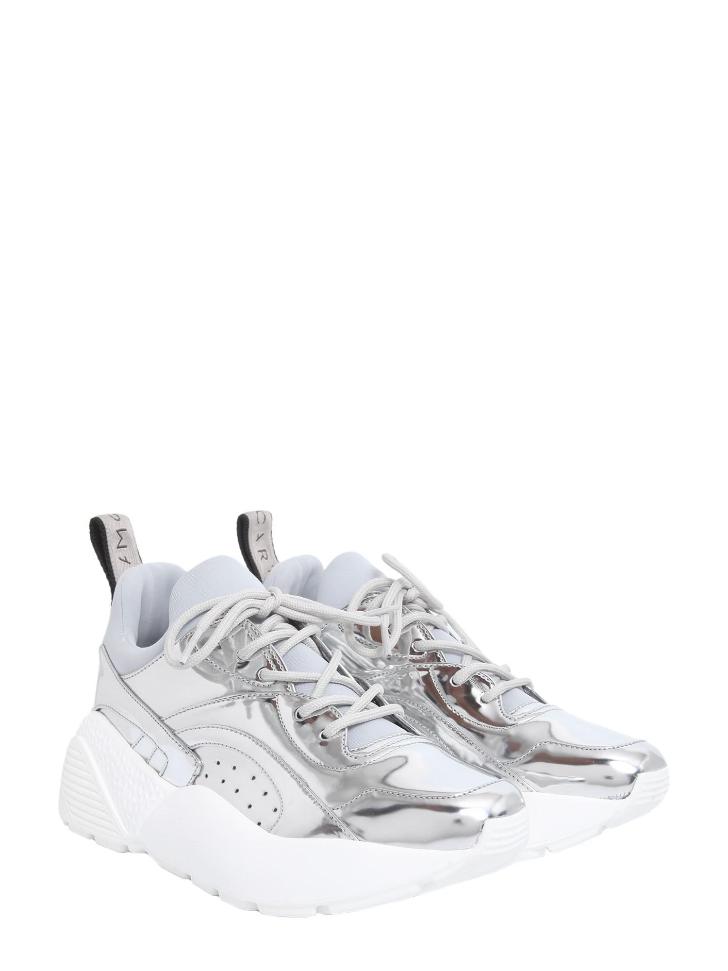 Stella McCartney Synthetic Eclypse Metallic Sneakers With Chunky Rubber Sole
