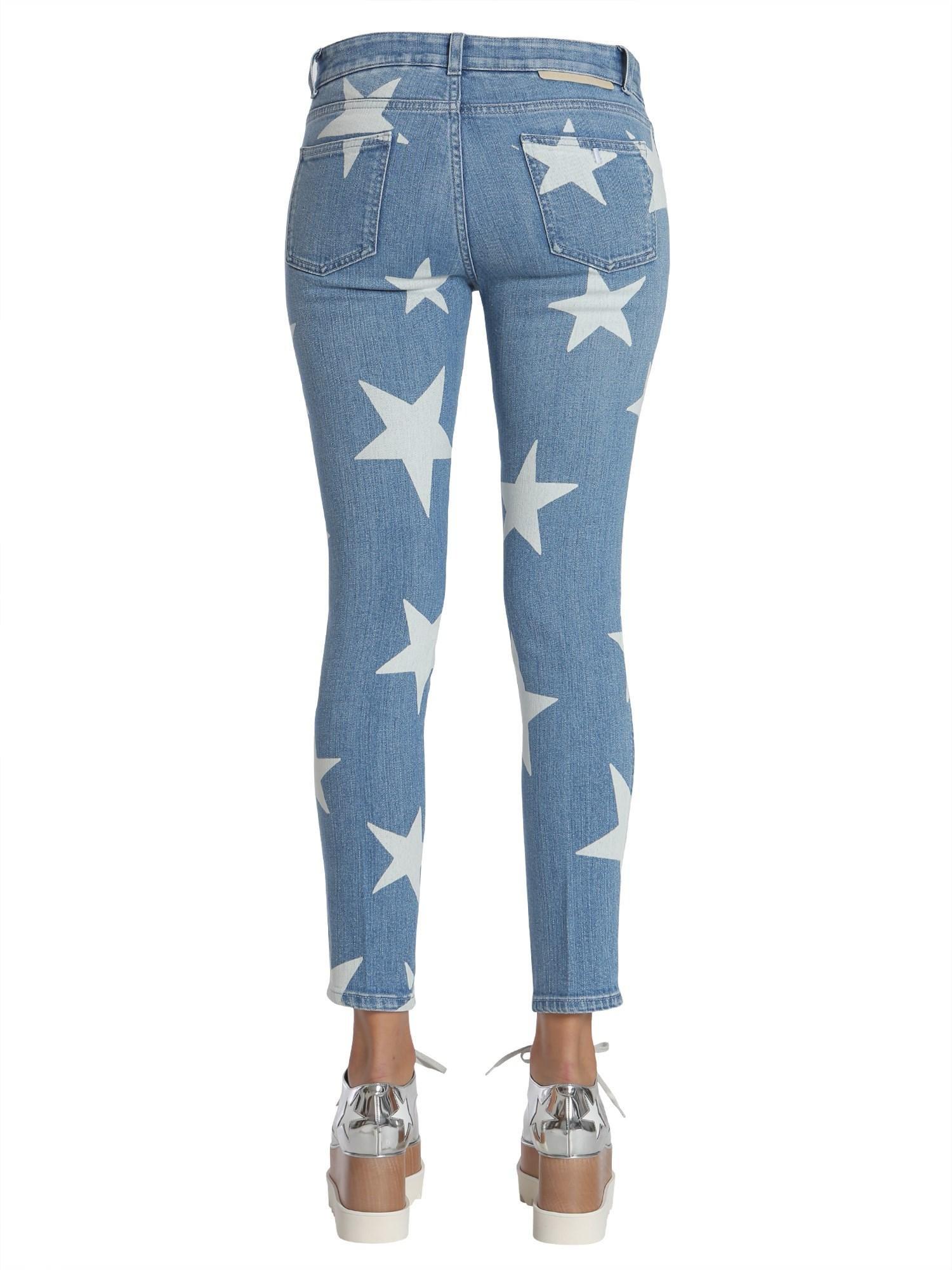 Stella McCartney Denim Ankle Grazer Star Jeans in Denim (Blue)