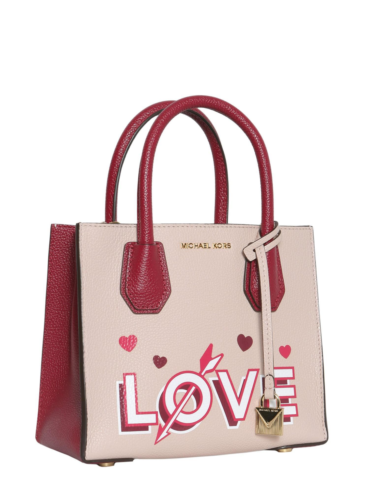 cf722f0474 Lyst - MICHAEL Michael Kors Mercer Love Medium Leather Messenger Bag ...