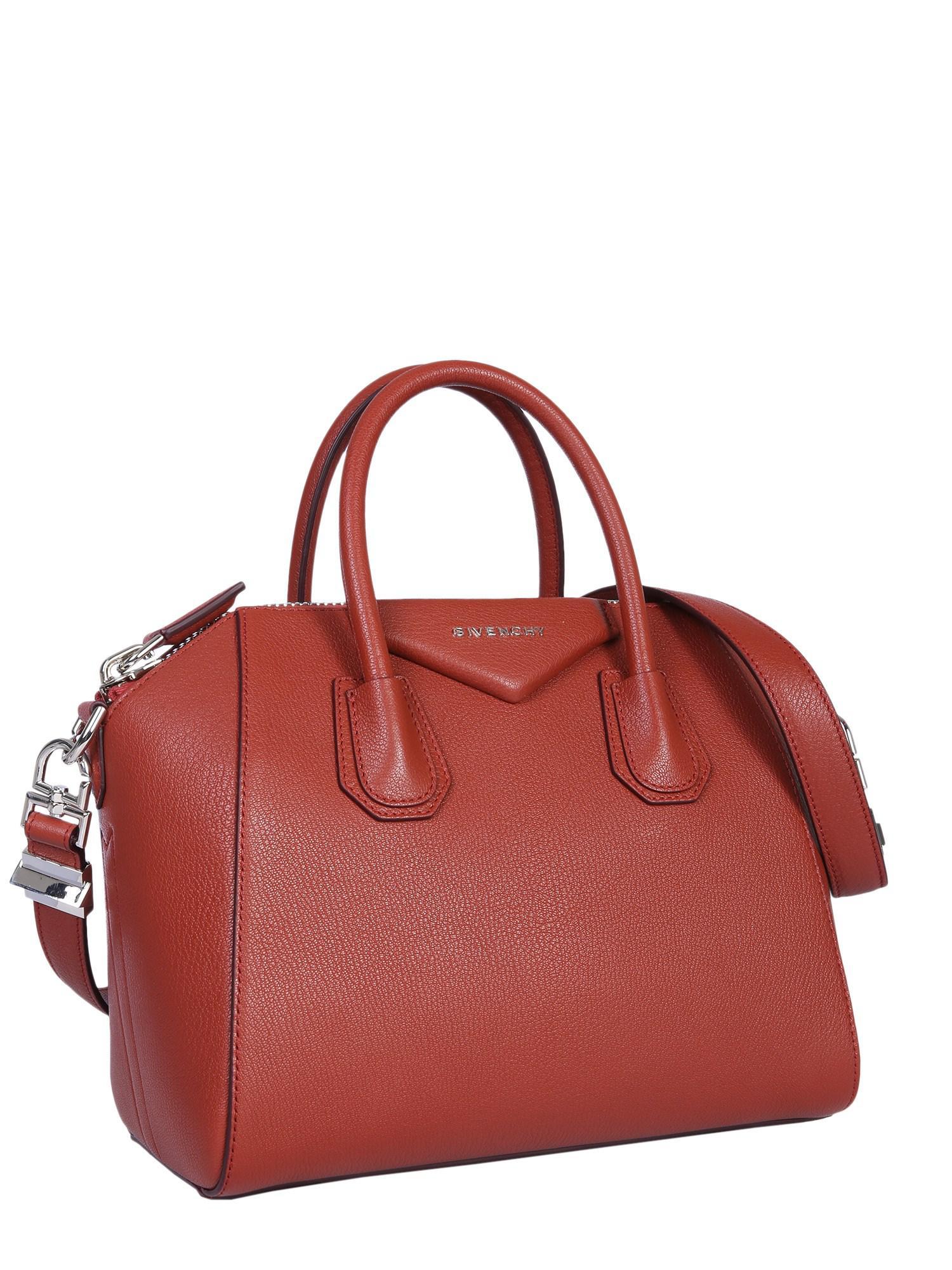Givenchy - Brown Small Antigona Leather Bag - Lyst. View fullscreen 7596d7d768