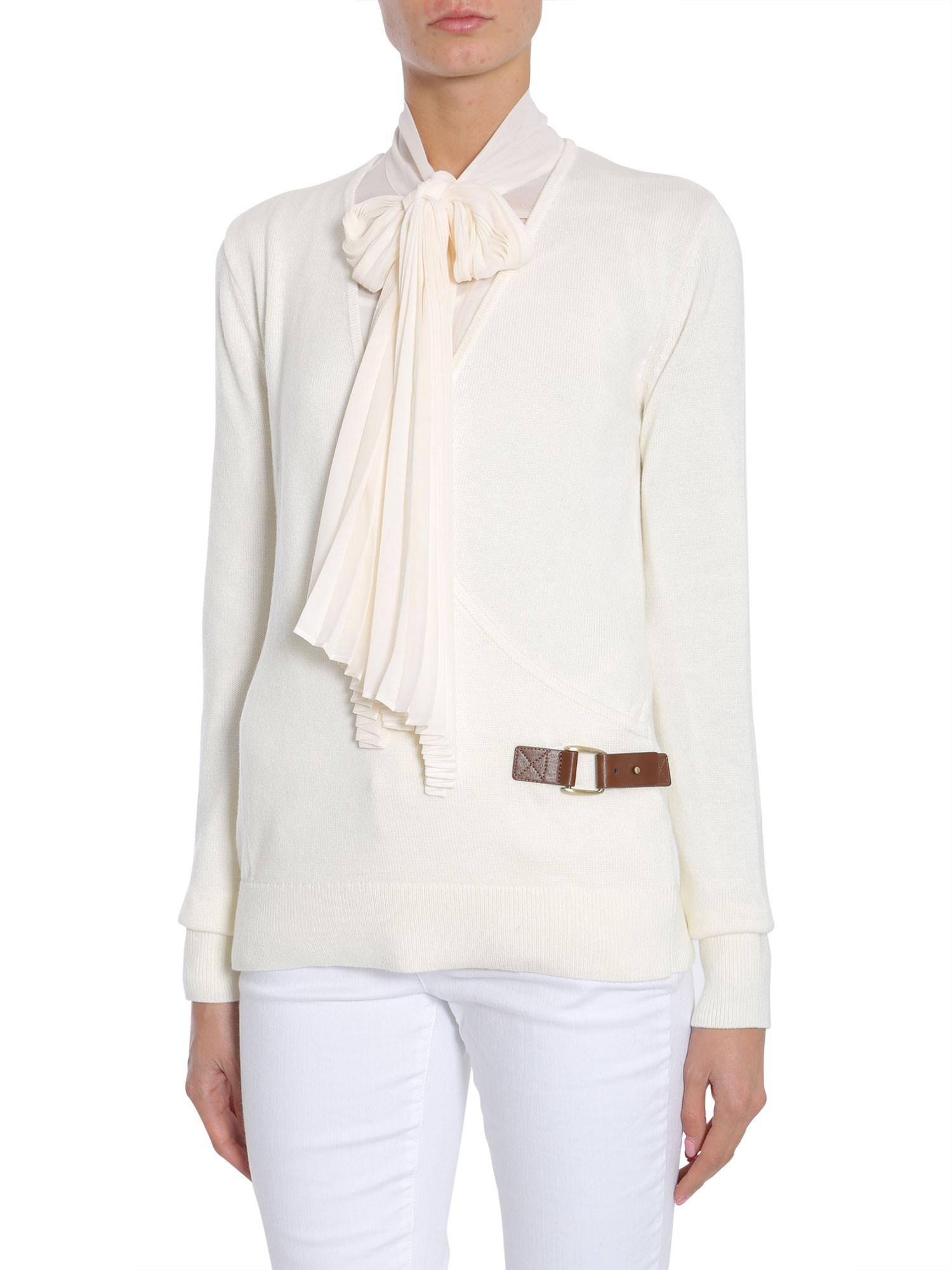 da9337cce449fe Michael Michael Kors Cotton Blend Cache Coeur Jumper With Buckle in ...