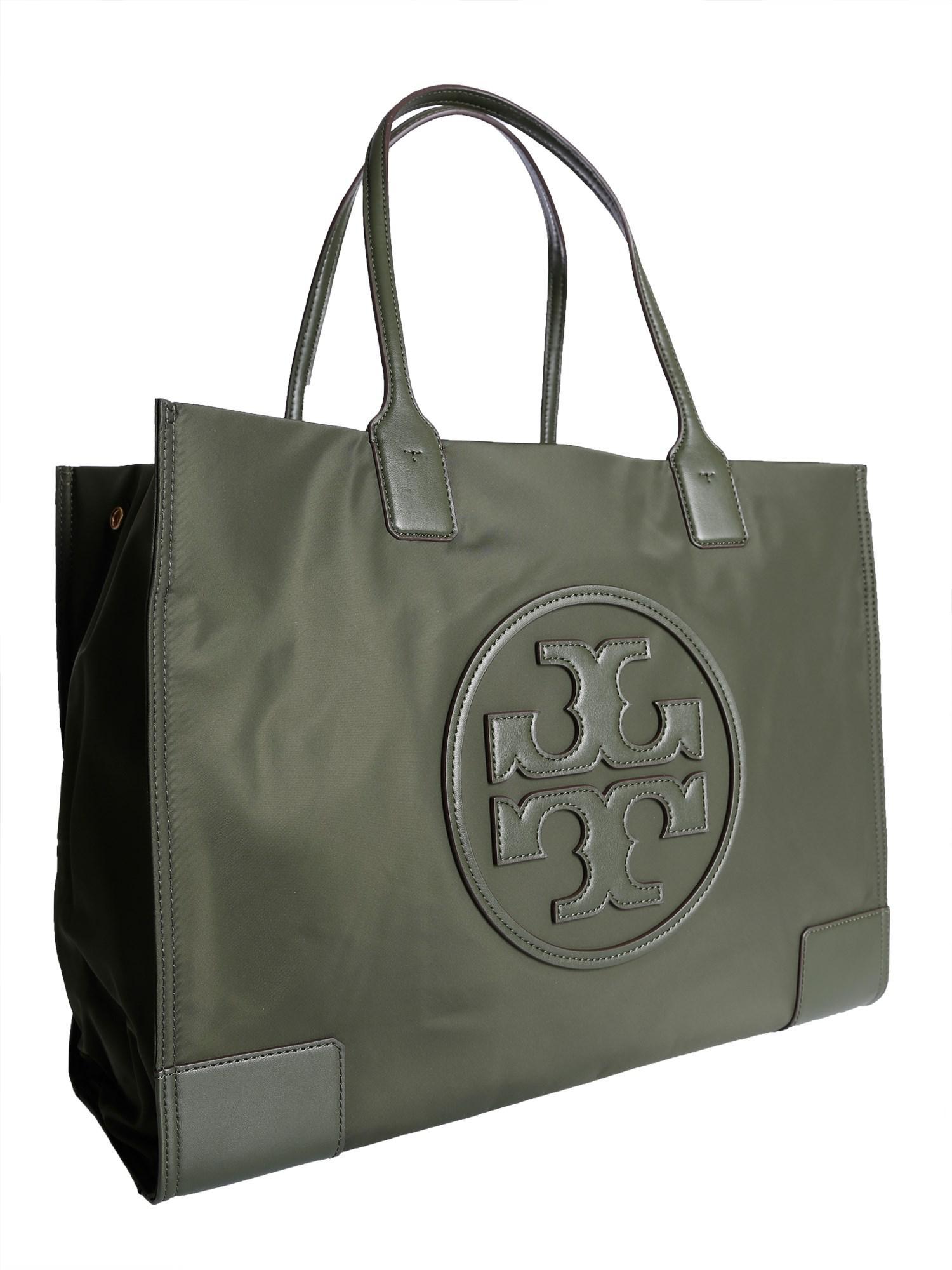 9e8542466435 Tory Burch - Green Ella Tote Bag In Technical Fabric - Lyst. View fullscreen