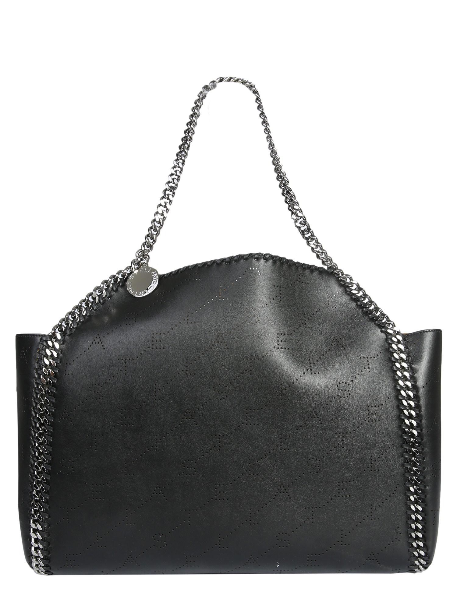 ff02d8f6922 Stella McCartney. Women s Black Falabella Reversible Tote Bag In SHAGGY Deer  Leather