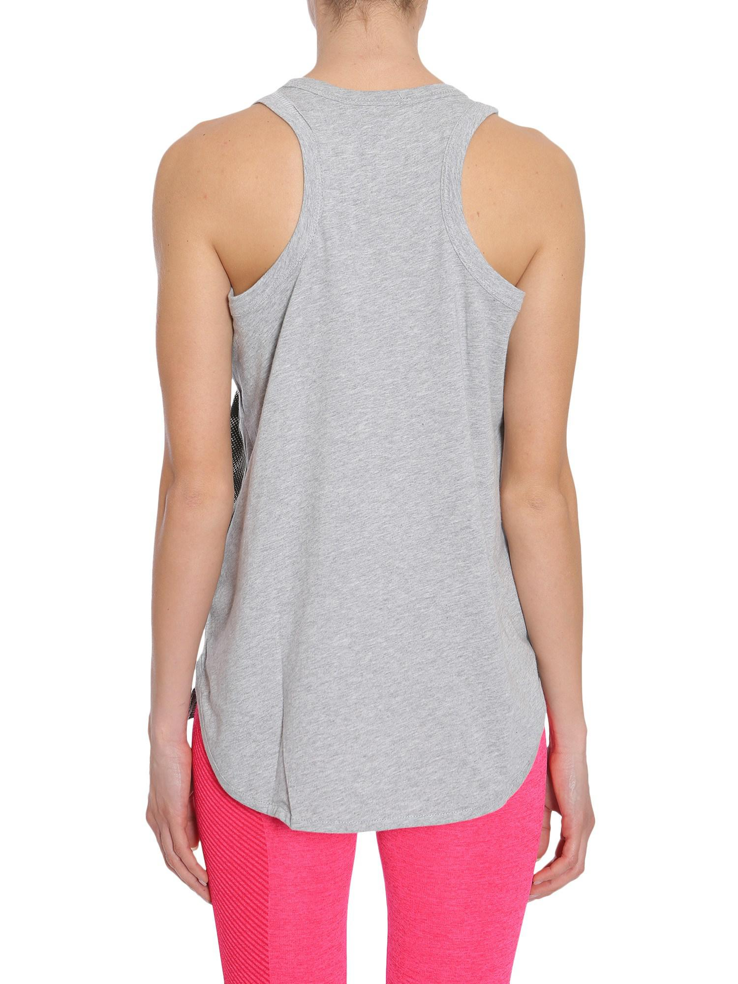 b9d2985cc7eb adidas By Stella McCartney. Women s Gray Leopard Print Essentials Logo Tank  Top