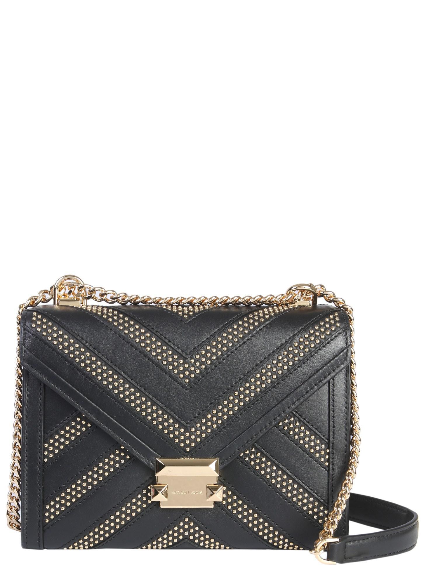e4f679555537 MICHAEL Michael Kors. Women s Black Whitney Studded Leather Shoulder Bag