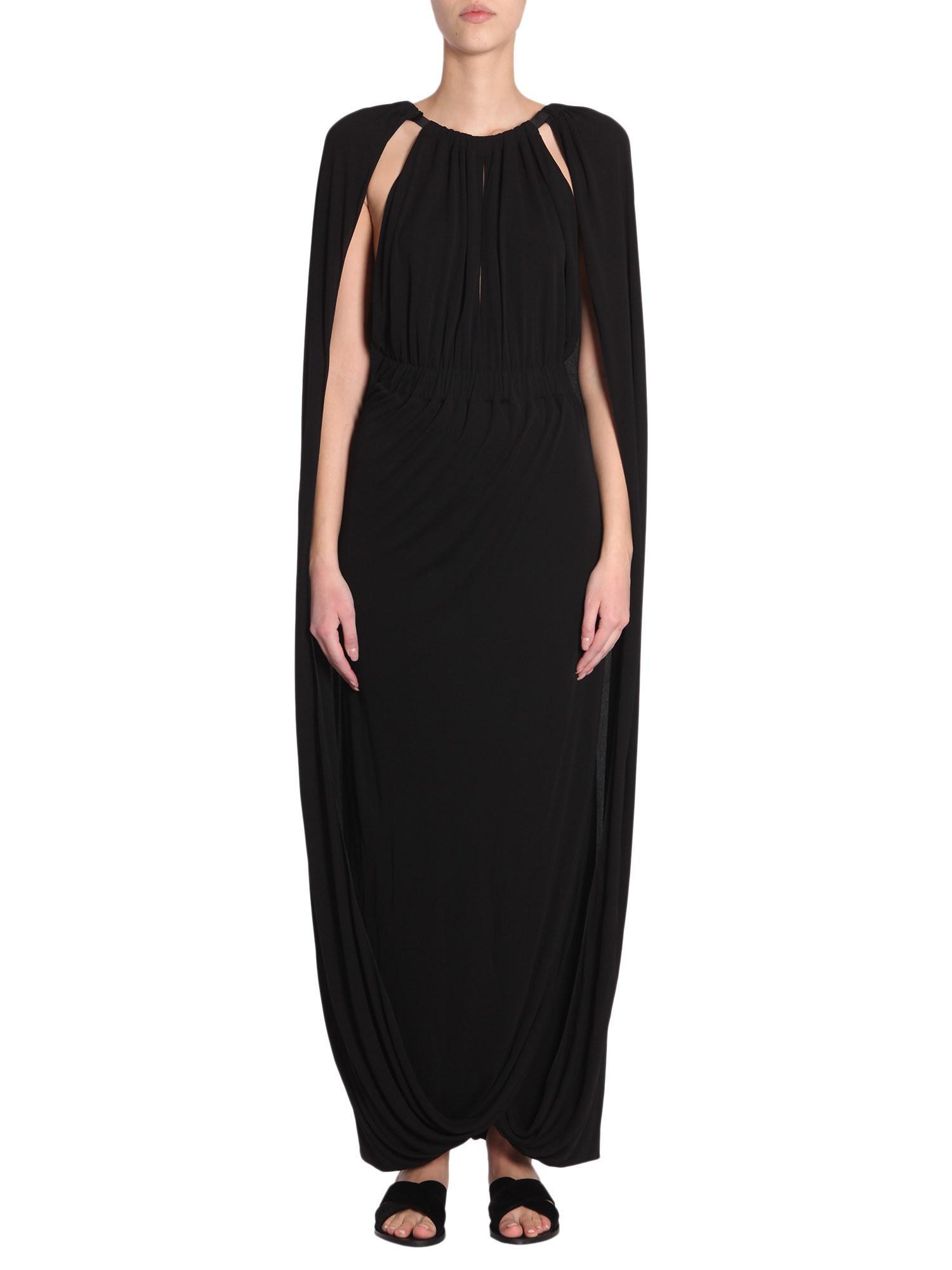 Long dress with cape Alberta Ferretti Buy Cheap Discounts 5Ff83wTSNy