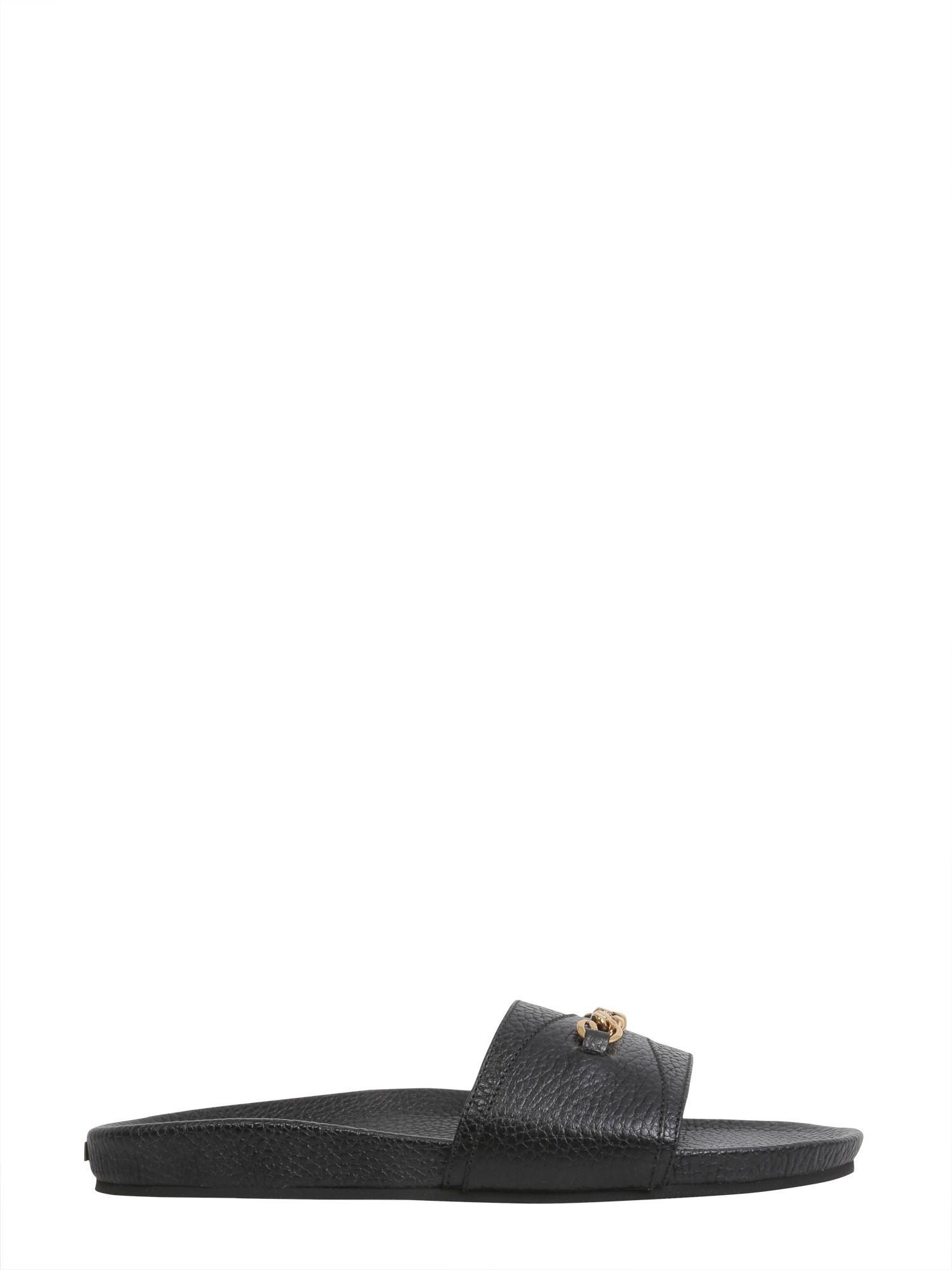 Tom Ford Slide sandals with chain detail unI4eeGf