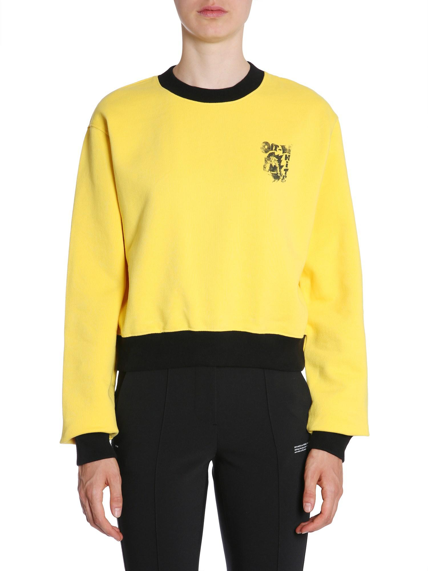 44407e6ac067 Off-White c o Virgil Abloh Cropped Cotton Sweatshirt With Singer ...