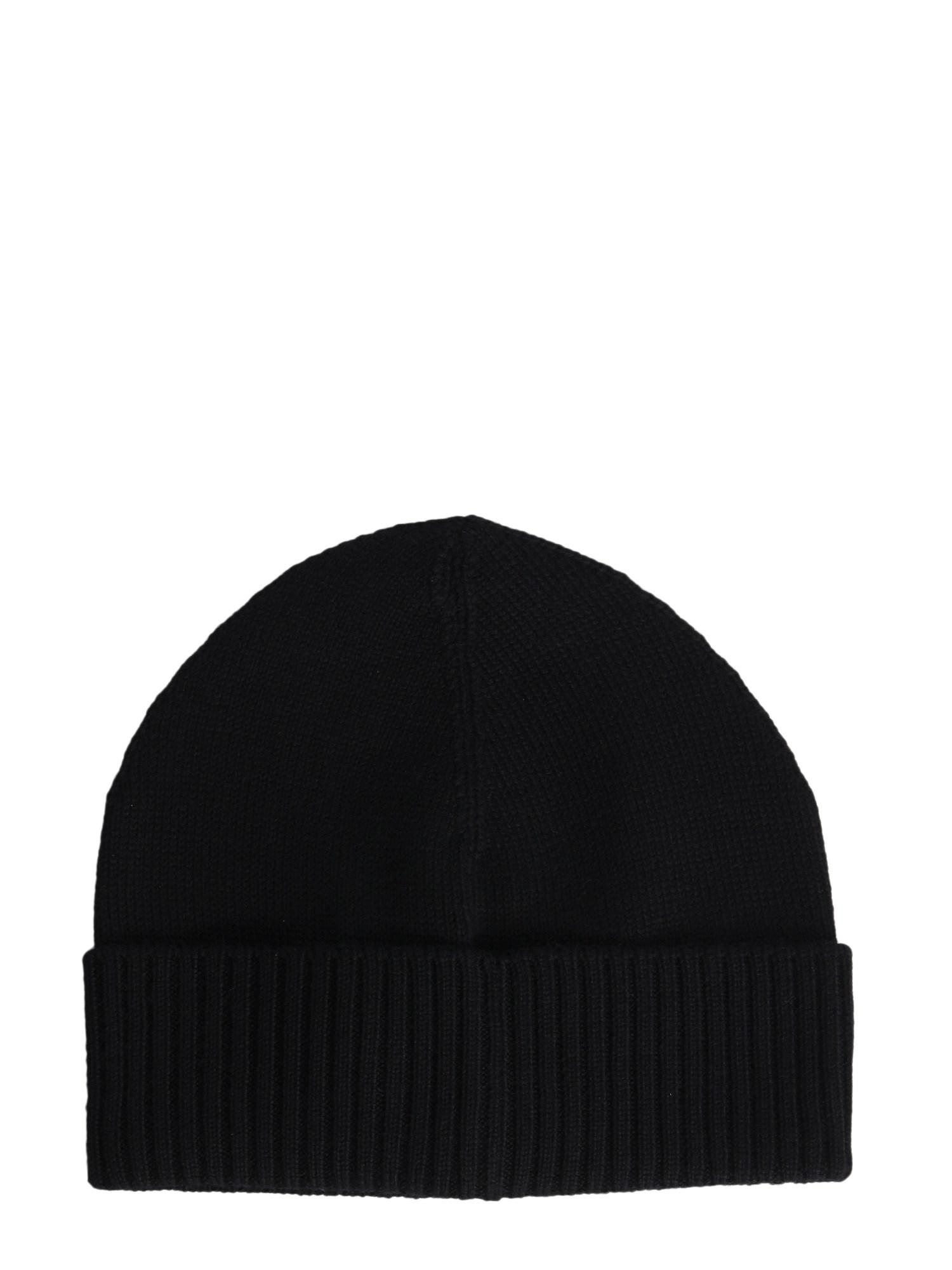 Vivienne Westwood Wool Beanie With Iconic Embroidery in Black for ... 92eb726a6f42