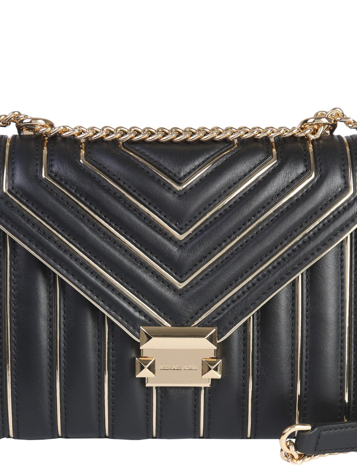 e21fabd17441 MICHAEL Michael Kors Black Leather Shoulder Bag in Black - Save 10% - Lyst