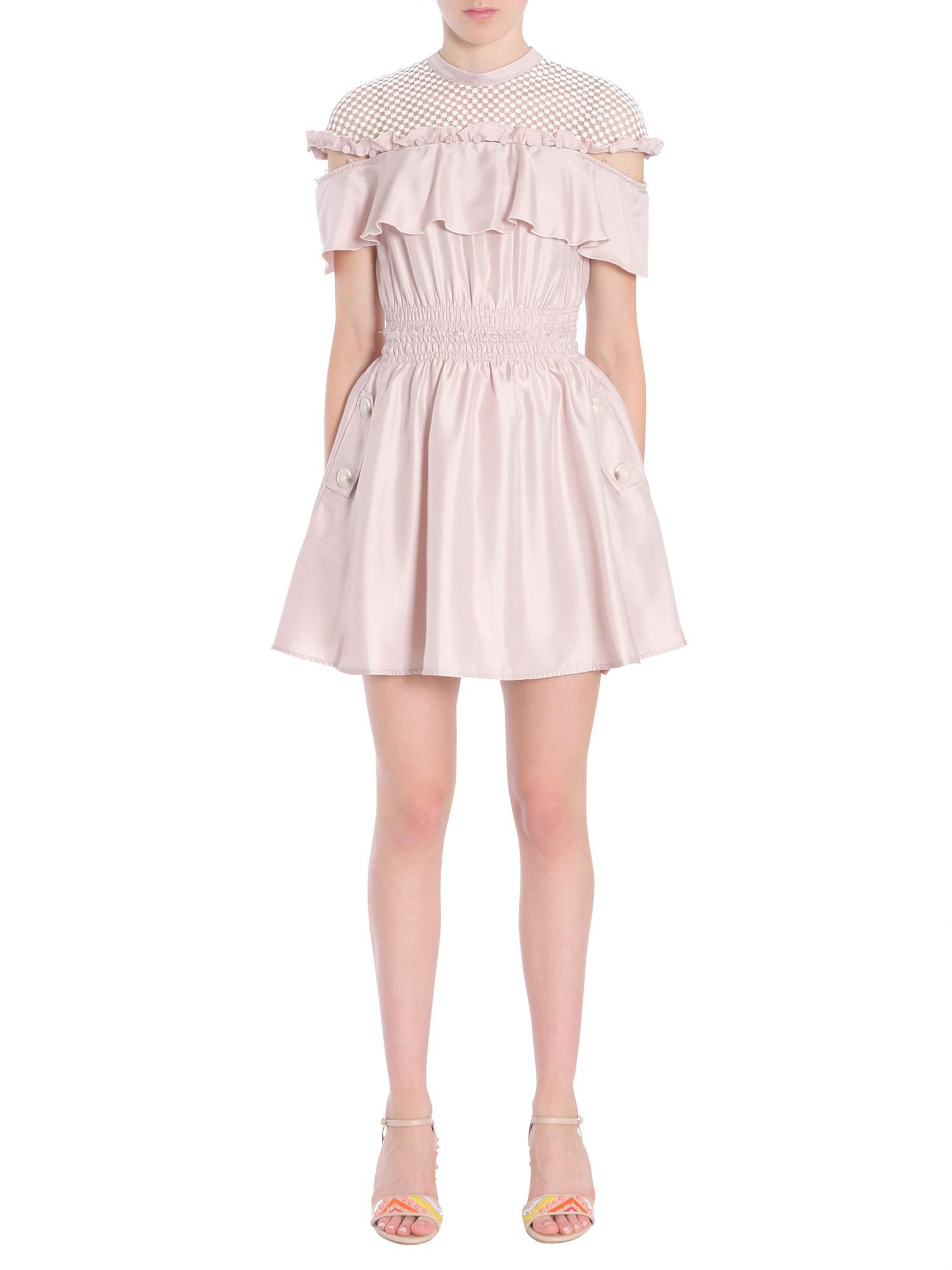 6225c7f29b77 Self-Portrait Hudson Satin Mini Dress in Pink - Lyst