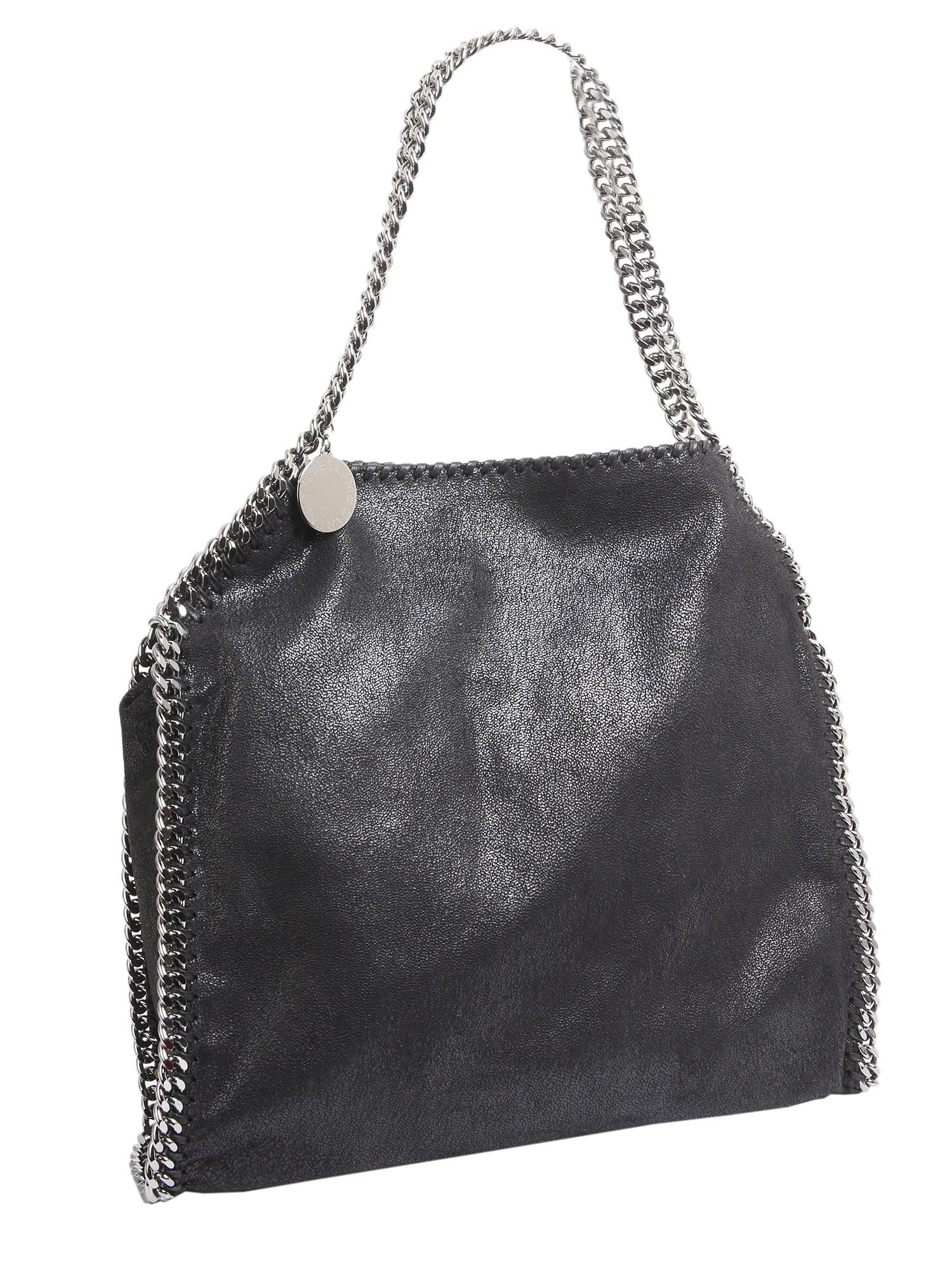 a7971f6343c Stella McCartney - Black Borsa Tote Small Falabella In Shaggy Deer - Lyst.  View fullscreen