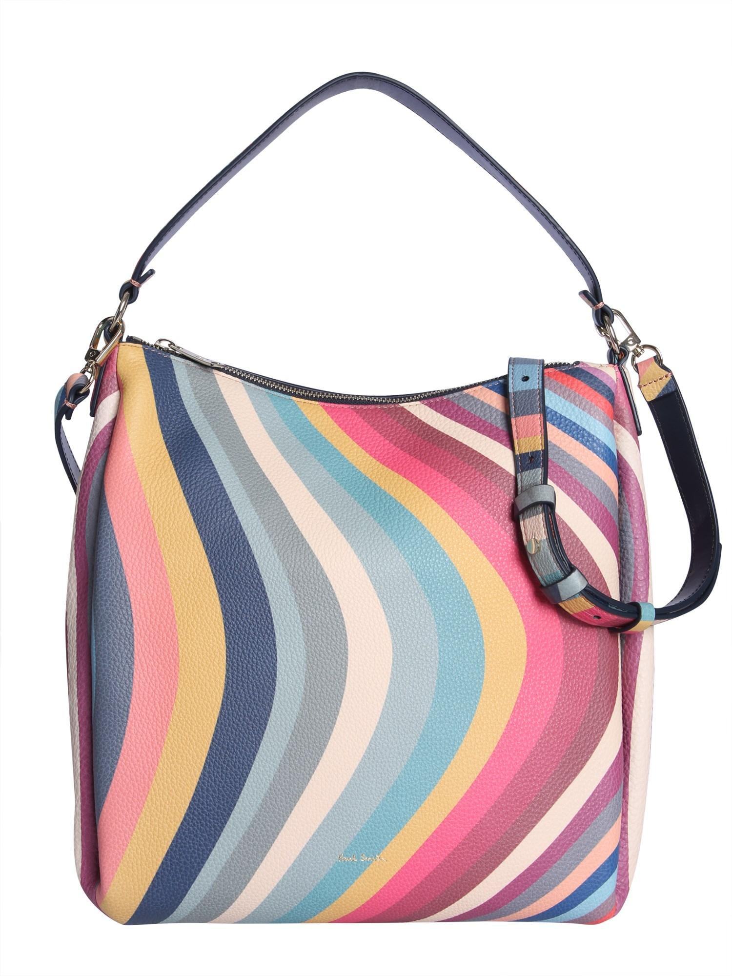 5b221f7e2 Lyst - Paul Smith Leather Shoulder Bag in Blue - Save 20%