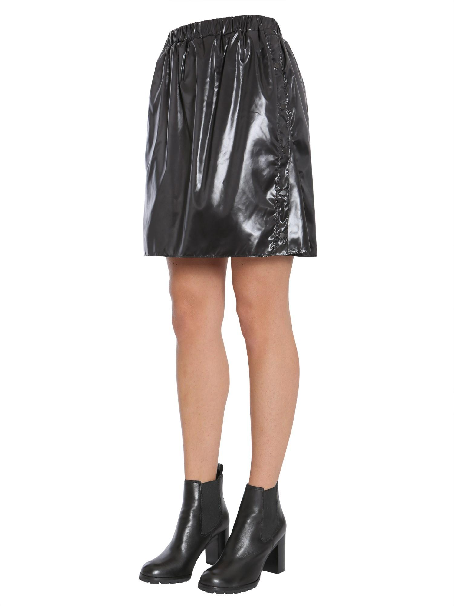 a1b08bae Women's Black Short Vinyl Skirt