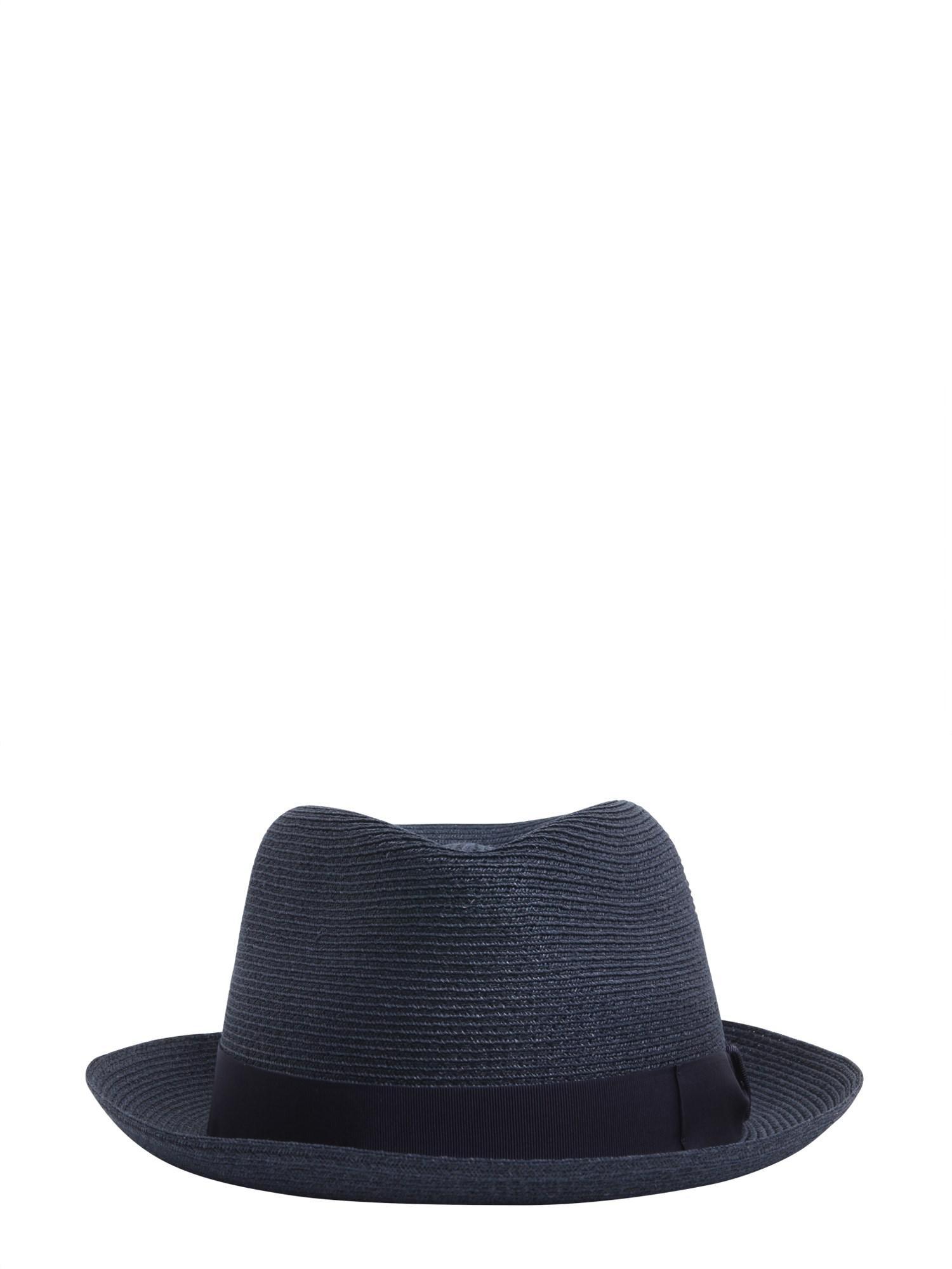 Lyst - Borsalino Cappello Panama Tesa Piccola In Canapa in Blue for Men ac26298c597d